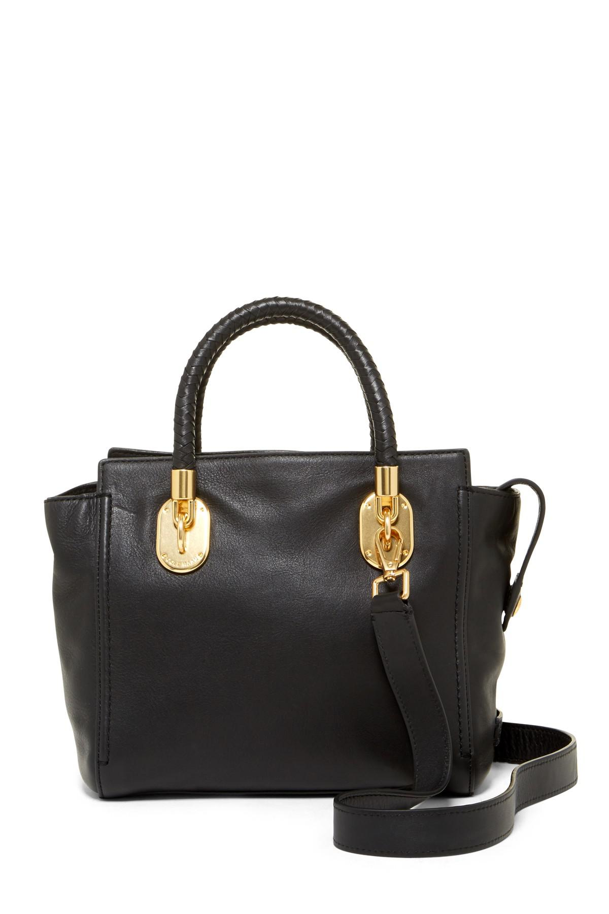 541b4e14bc9 Cole Haan Benson Ii Small Leather Tote in Black - Lyst