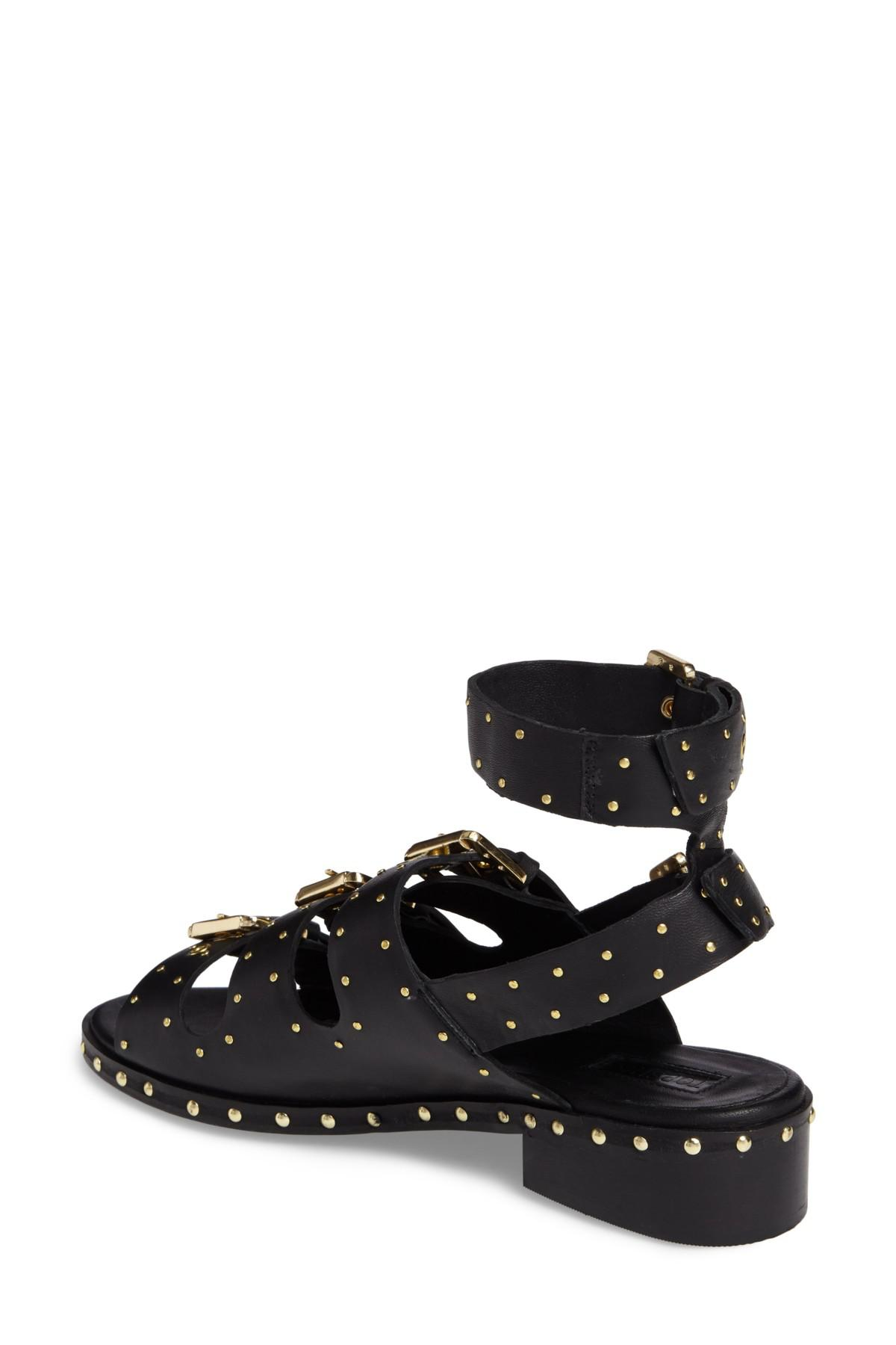 TOPSHOP Leather Frank Studded Buckle