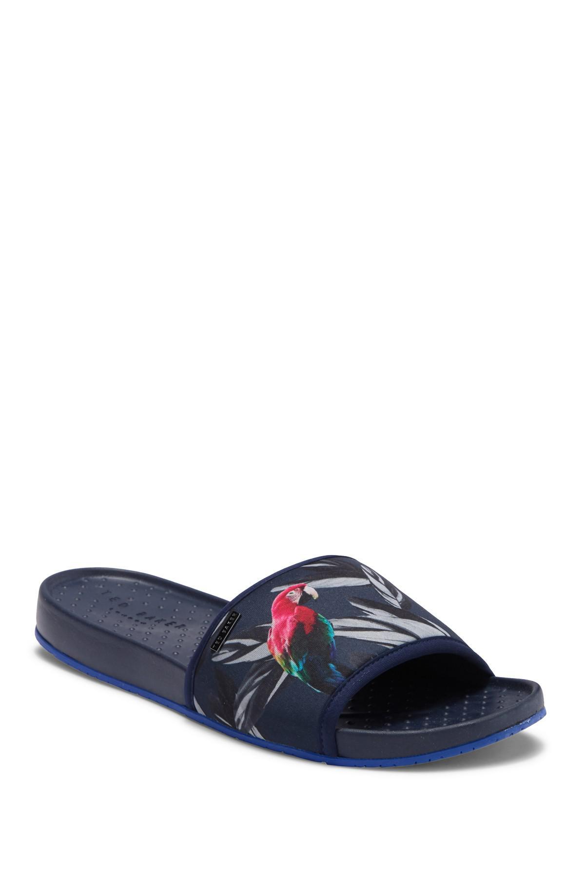 34b51ba6d6ff7 Lyst - Ted Baker Sauldi Slide Sandal in Blue for Men - Save 57%