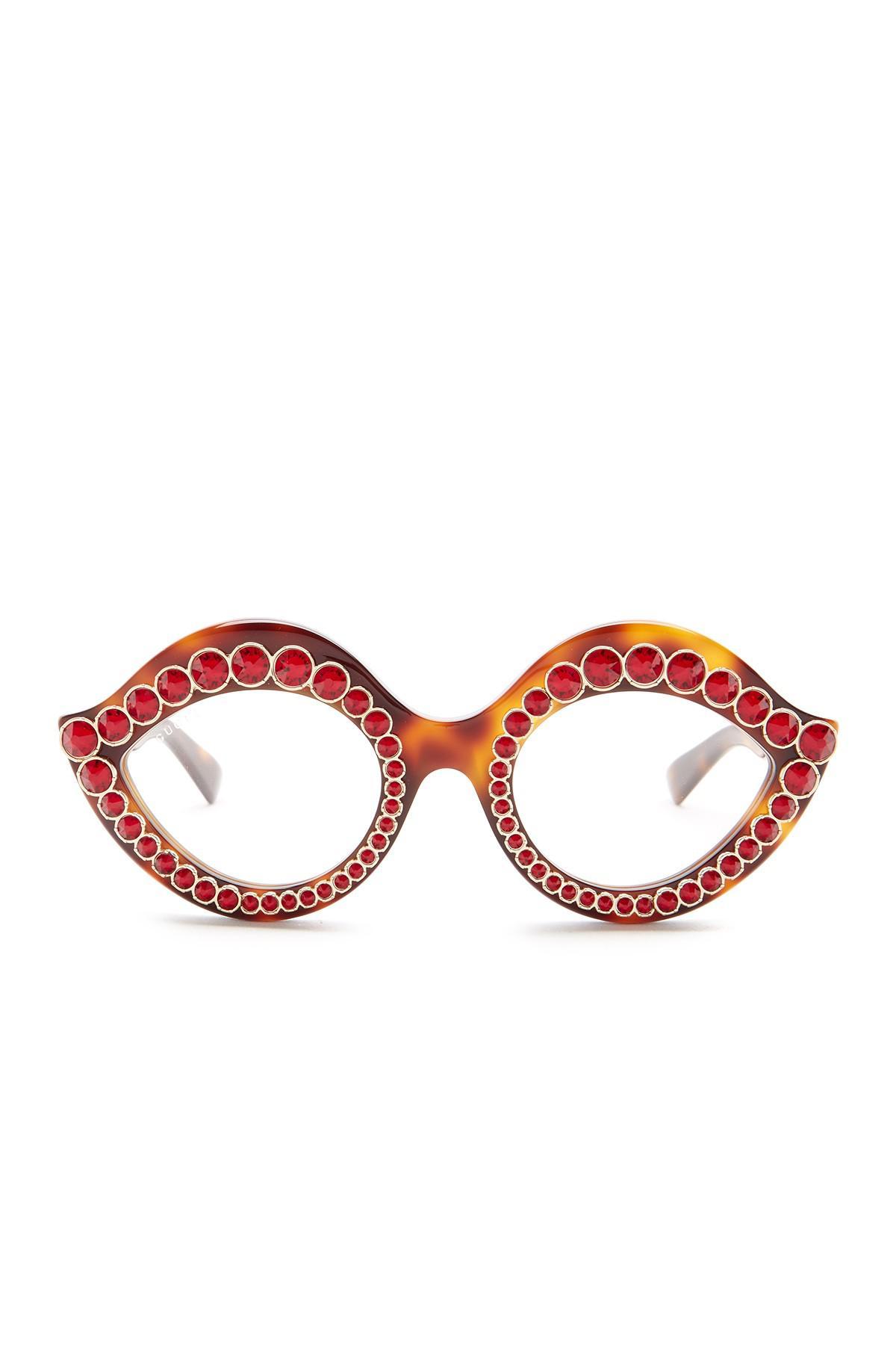 3c82466a3319d Lyst - Gucci Women s Lips Cat Eye Sunglasses