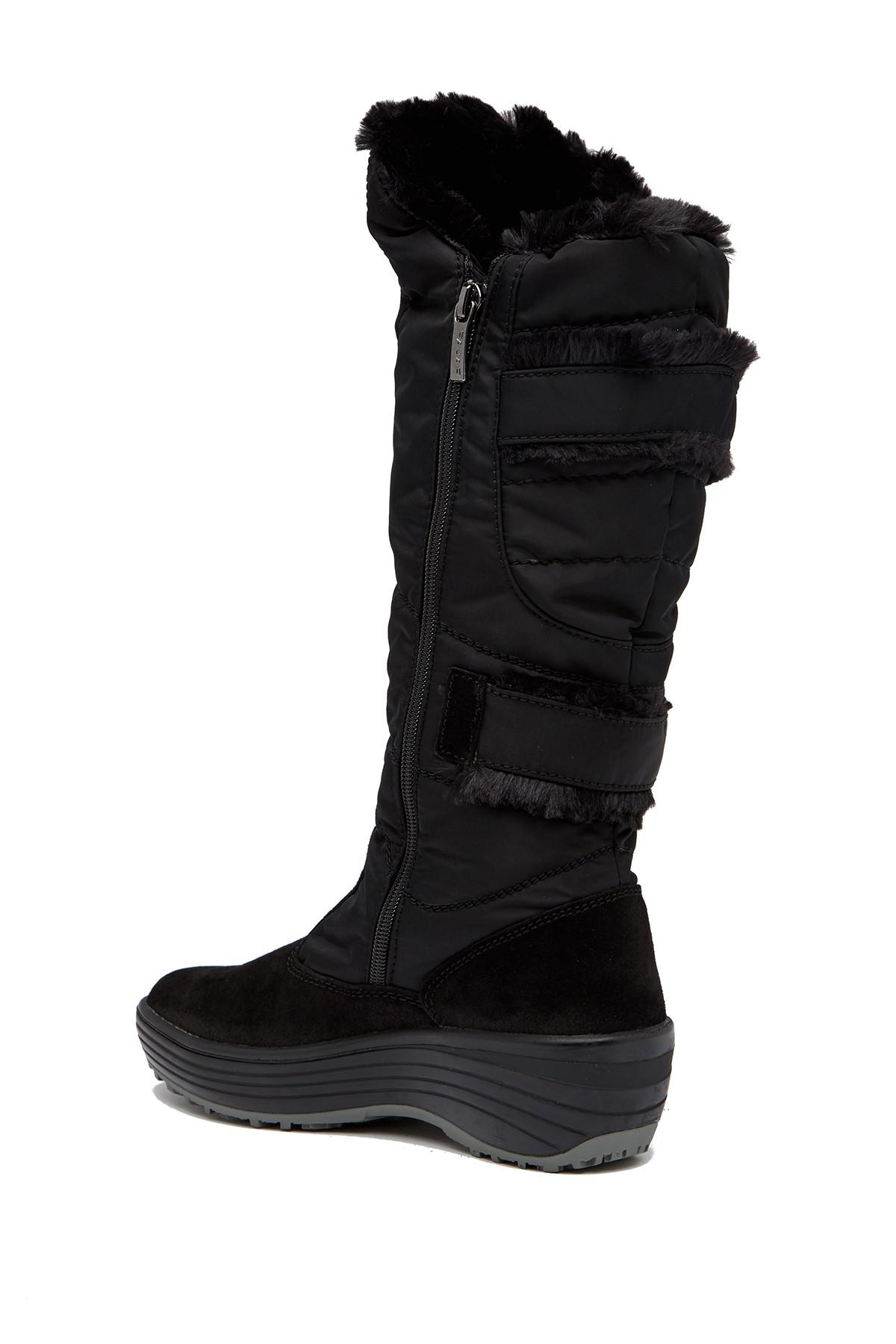 Pajar Carmin Waterproof Faux Fur Boot In Black Lyst