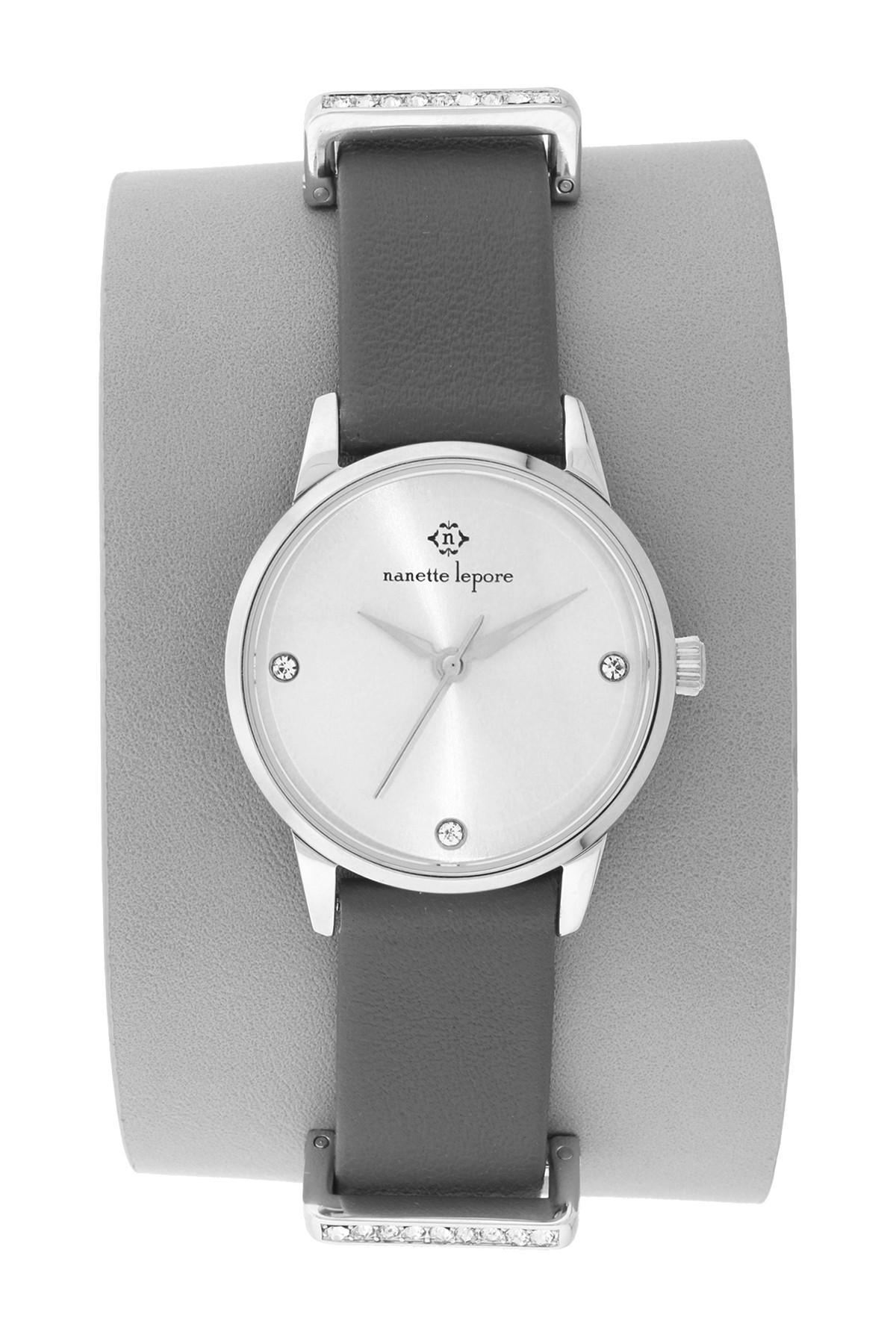 Lyst Nanette Lepore Women S Cuff Watch In Gray