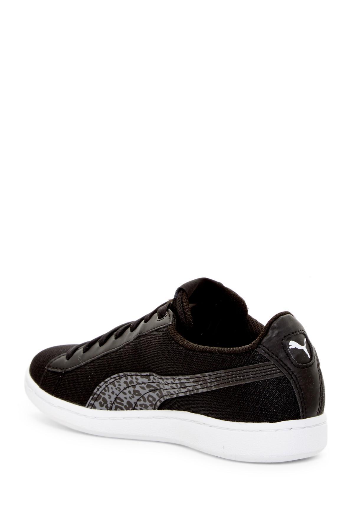 Lyst - PUMA Vikky Leopard Print Sneaker in Black for Men 9c2b4ca5263d