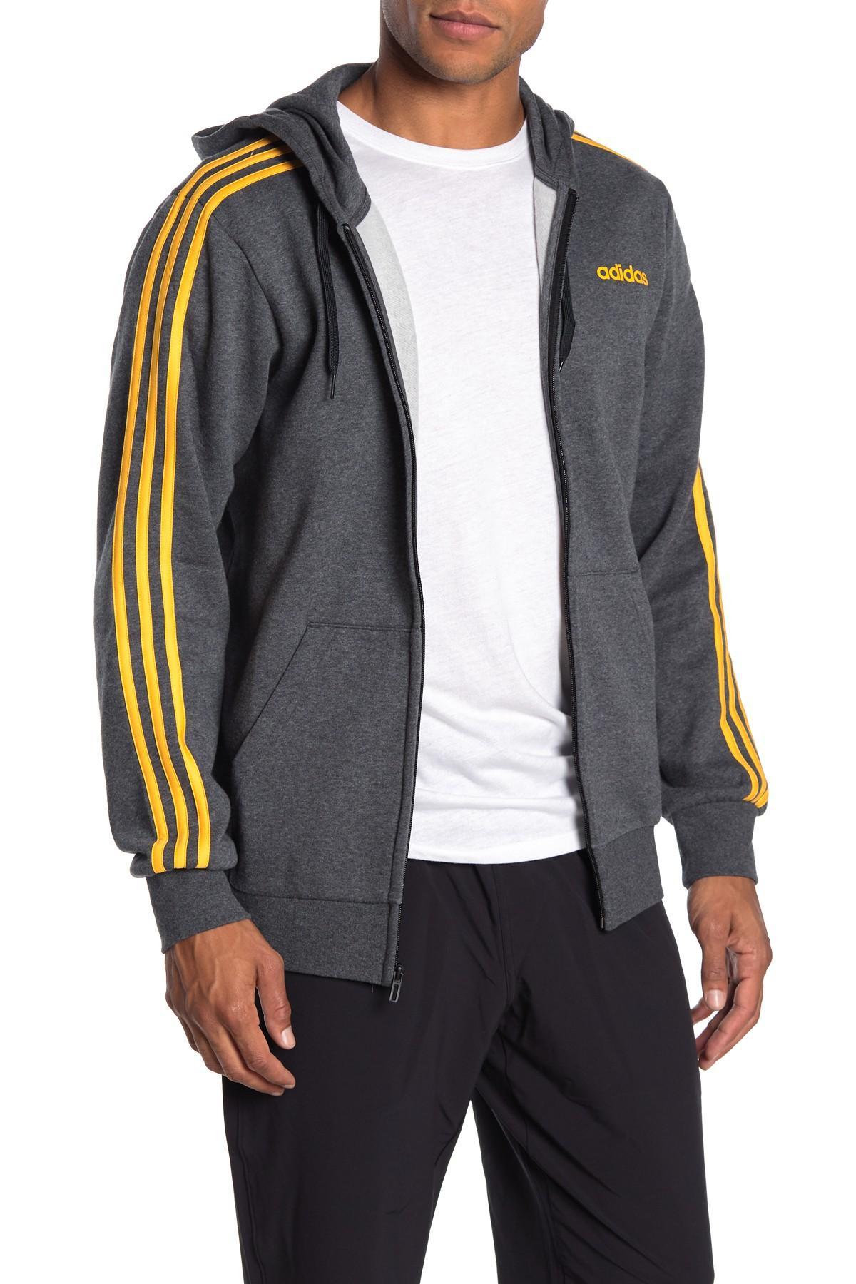 adidas Mens Essentials 3 Stripe Tall Sweatshirt in Grey Navy