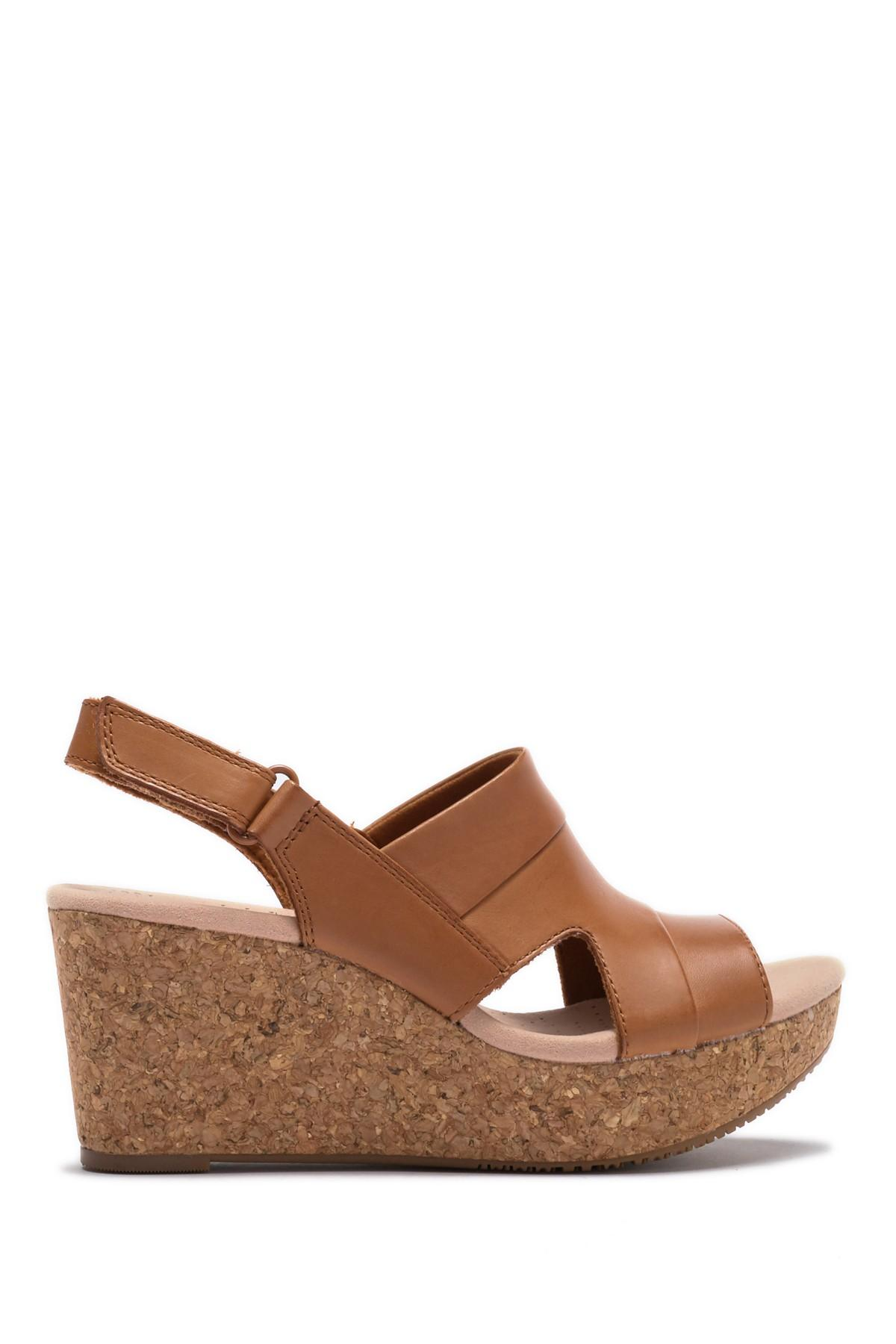 d36c6e8af7ef Clarks - Brown Annadel Ivory Wedge Sandal - Wide Width Available - Lyst.  View fullscreen