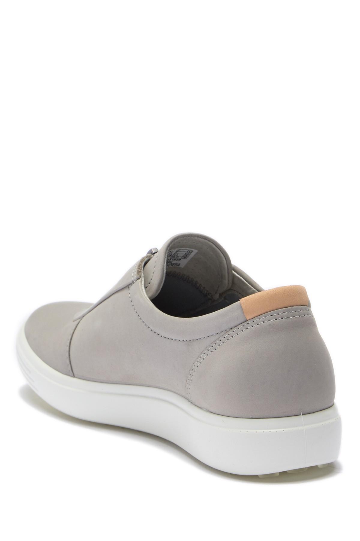 Ecco Soft 7 Leather Zip Sneaker - Lyst