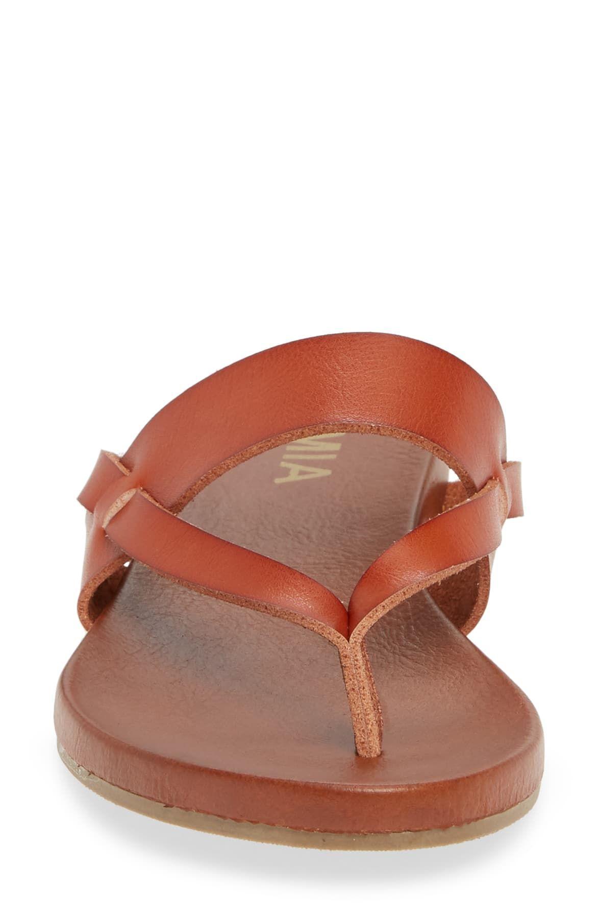 MIA Mariah Slide Sandal in Tan (Brown