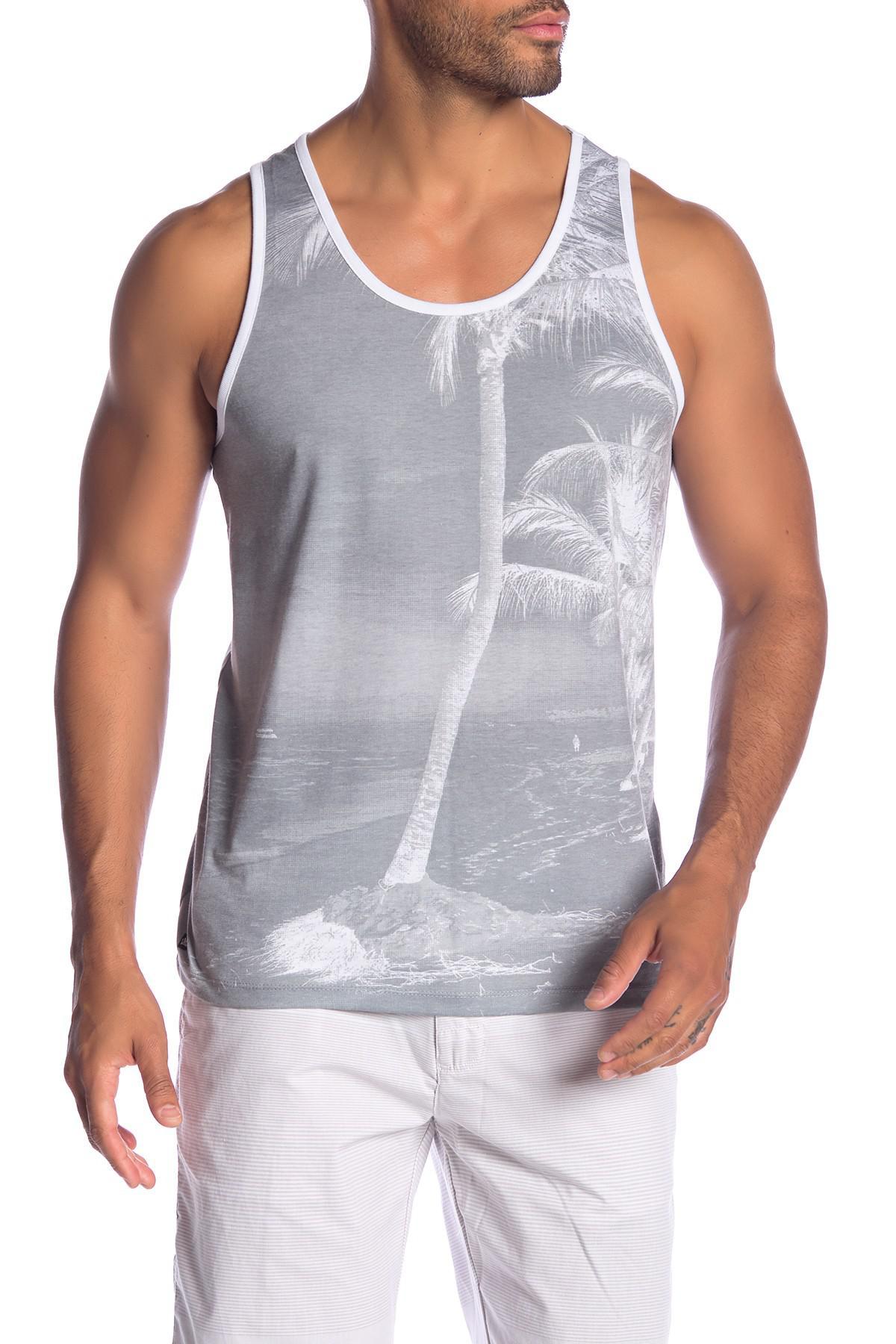 1ed6ca664a77f Lyst - Micros Garfield Island Print Tank Top in Gray for Men