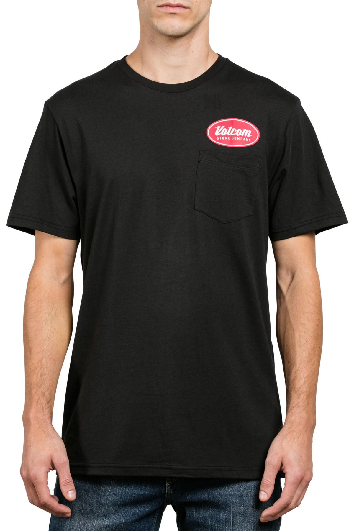 Lyst Volcom Foundry Logo Graphic Pocket T Shirt In Black