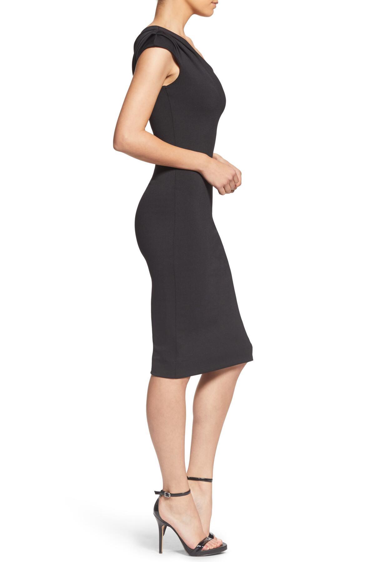 ffe7f856ae65 Lyst - Dress the Population Quinn One-shoulder Body-con Dress ...