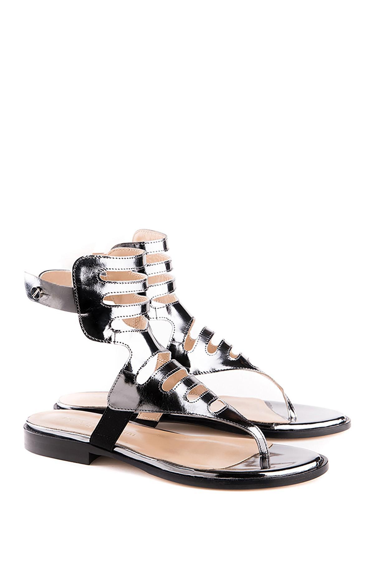Perla Formentini Amedea Leather Sandal qbXO8NnWoj