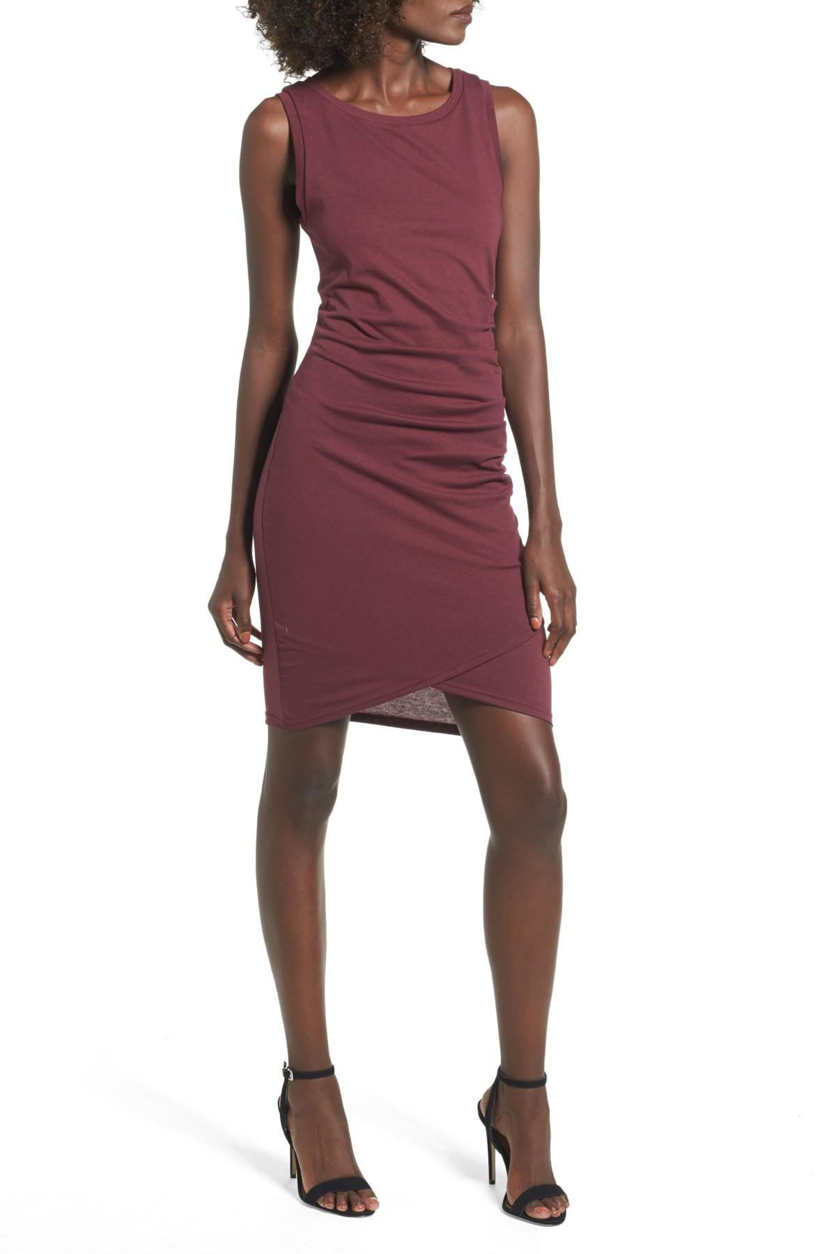 Leith ruched body con tank dress shopping websites sequin