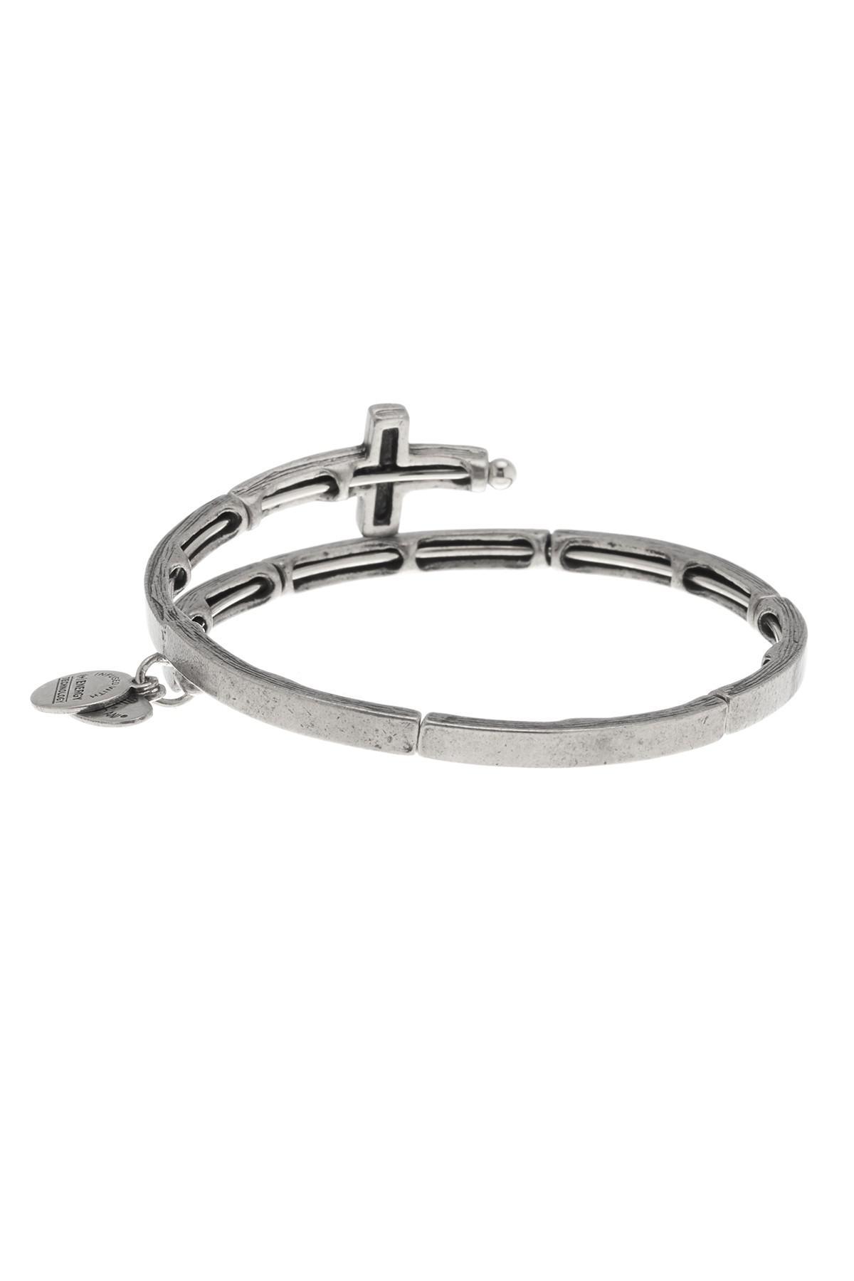 Alex And Ani Cross Wrap Bracelet In