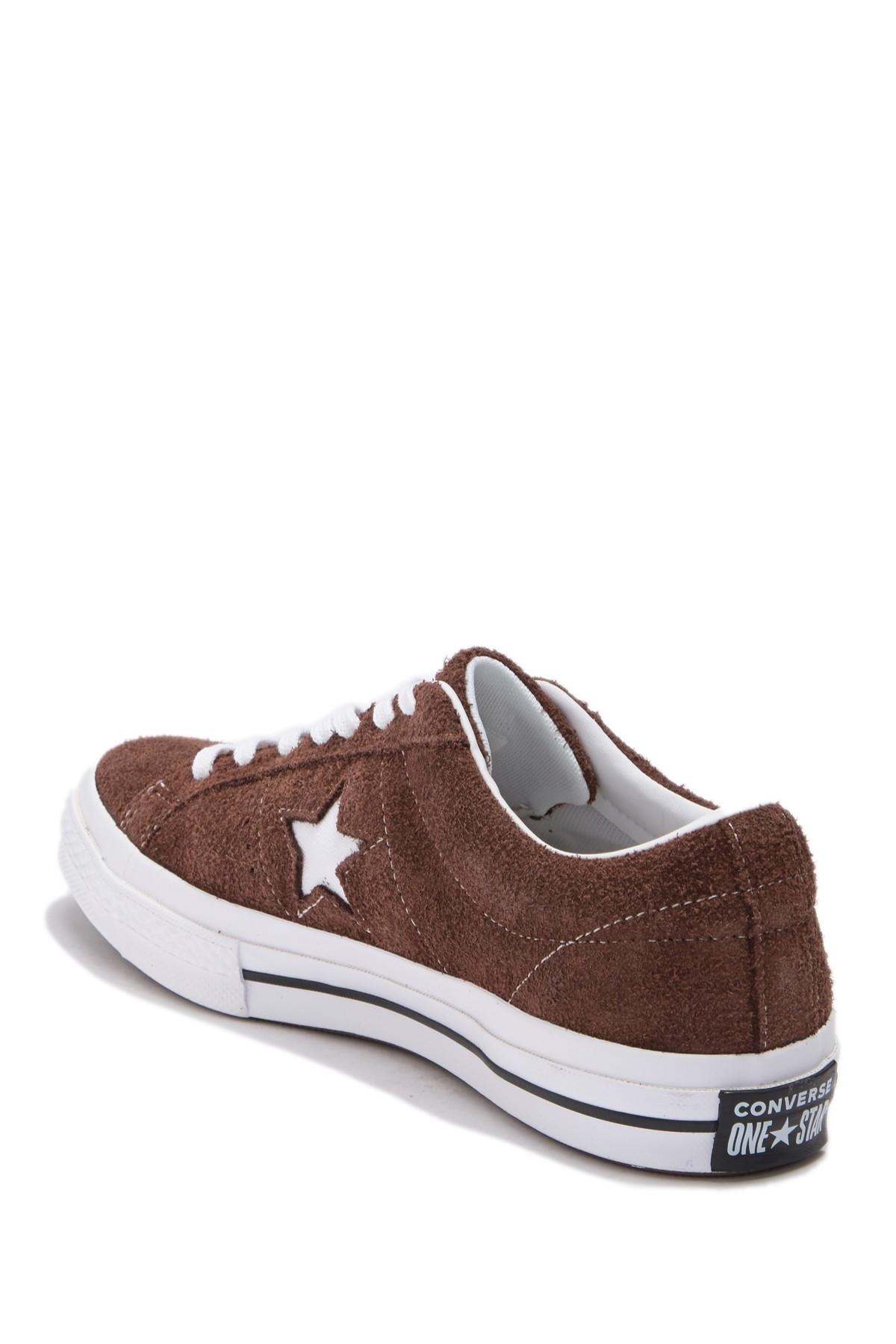 Converse One Star Oxford Suede Sneaker (unisex) in Chocolate/White ...