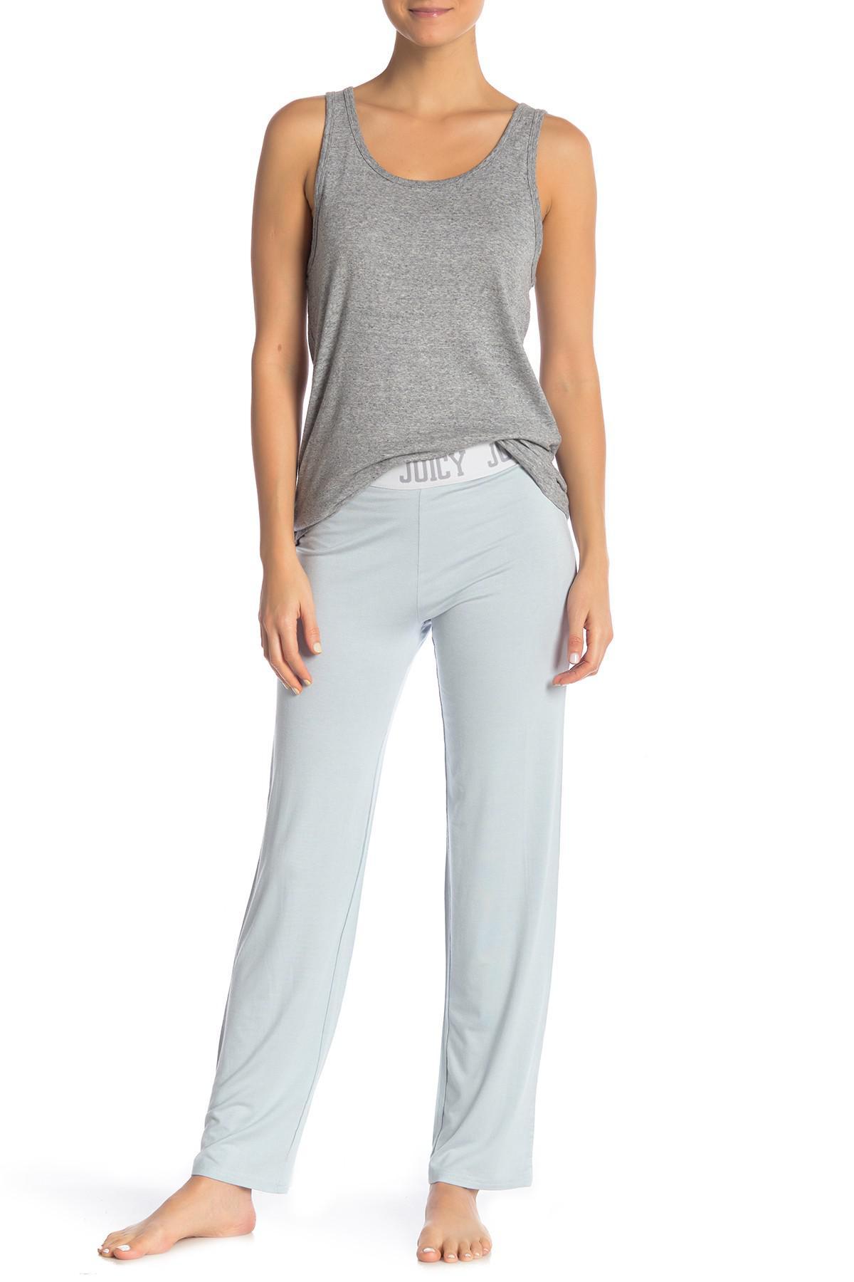 a7c1d15bdd Lyst - Juicy Couture Juicy Logo Pajama Pants in Blue