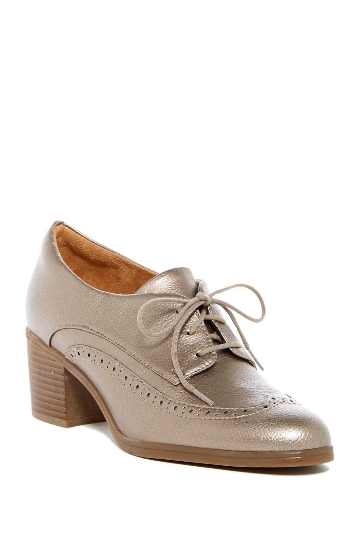 e1d317518cf2 Lyst - Naturalizer Herlie Wingtip Heeled Oxford - Wide Width Available