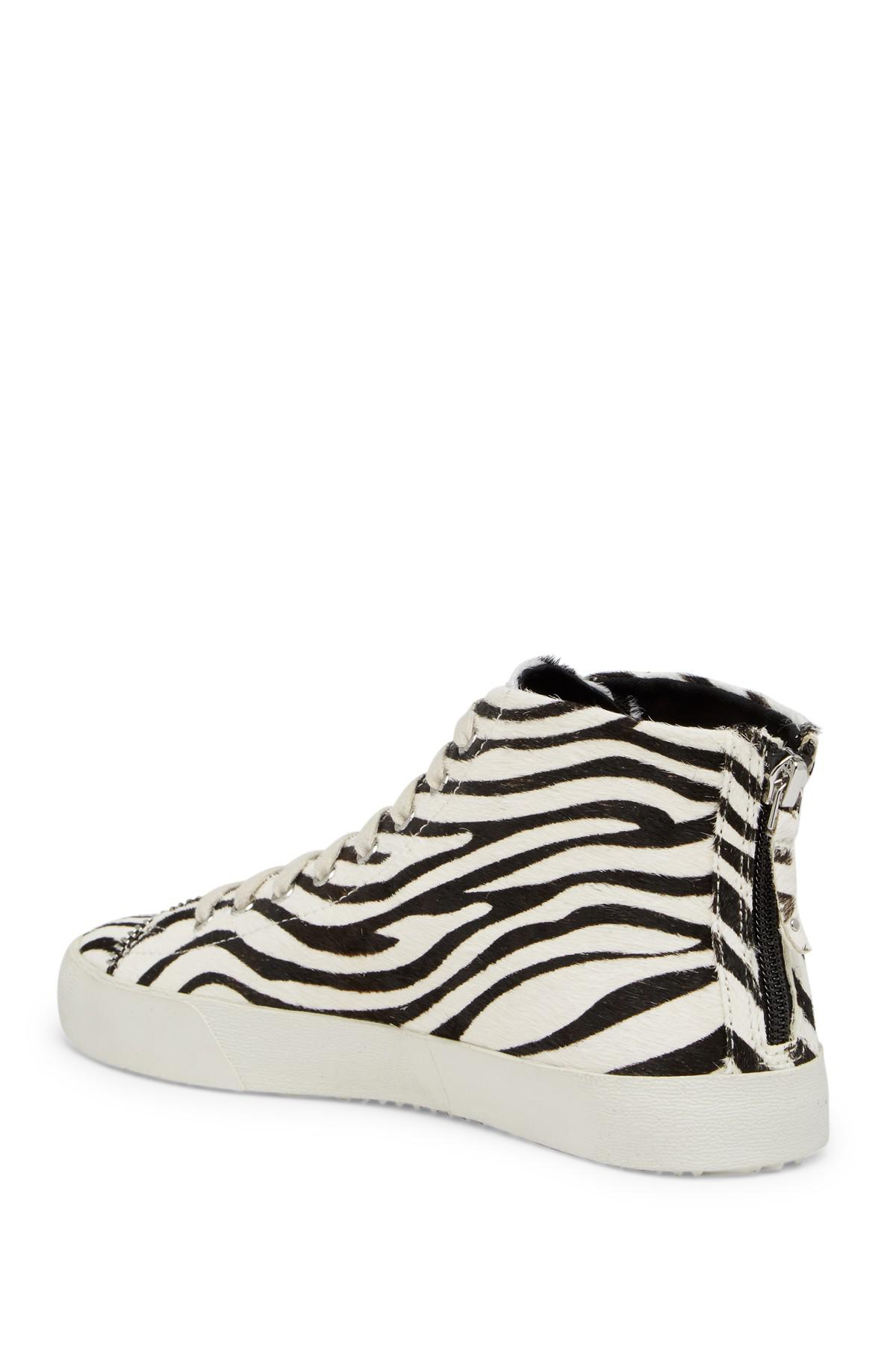 Rebecca Minkoff Zaina Too Genuine Calf Hair Mid Sneaker