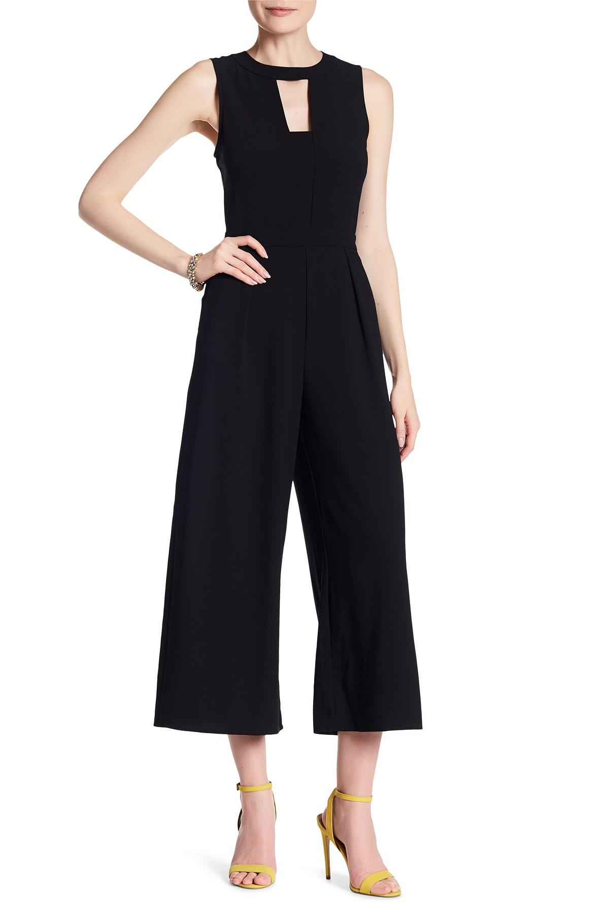 62da94a2cf4 Lyst - Laundry by Shelli Segal Front Cutout Crepe Jumpsuit in Black