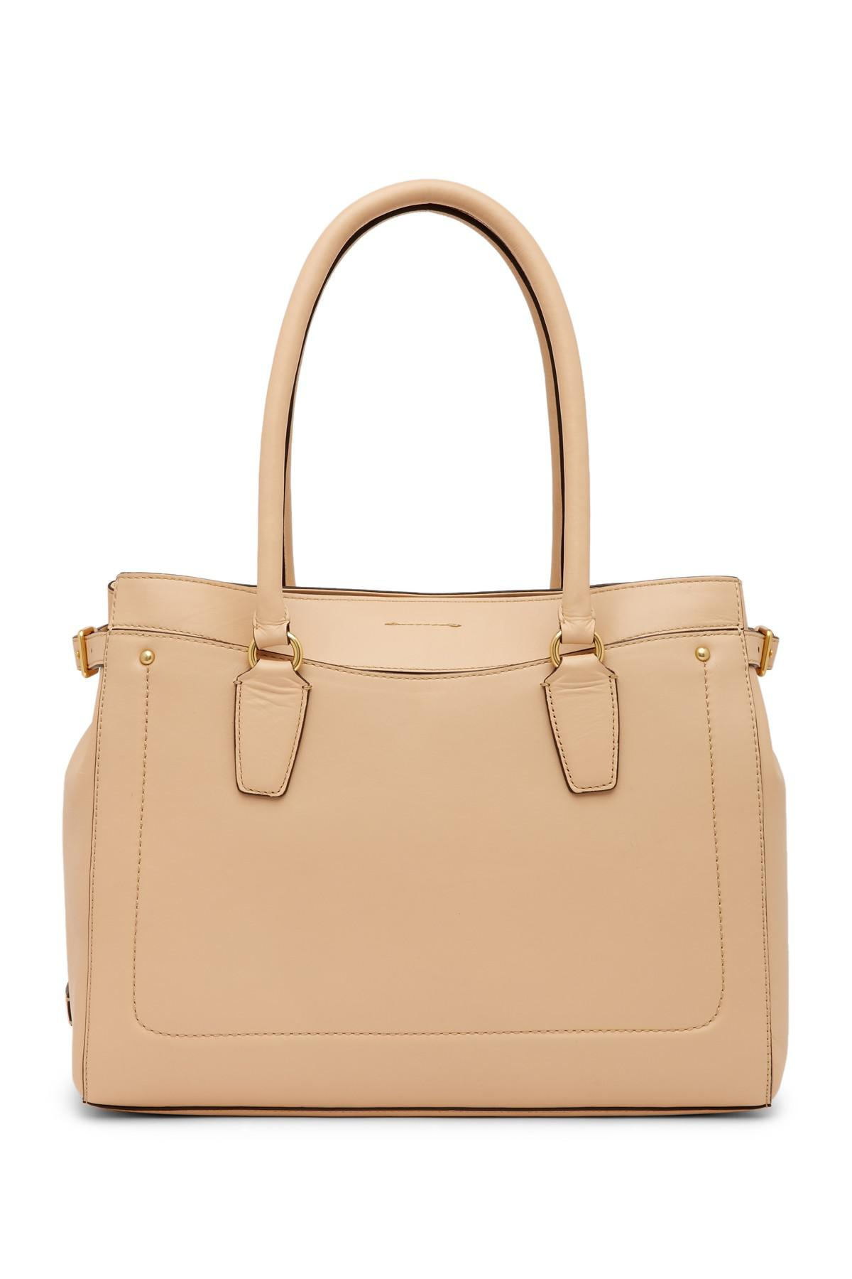 e2b6938fd7e6 Lyst - Cole Haan Esme Leather Work Tote Bag in Natural