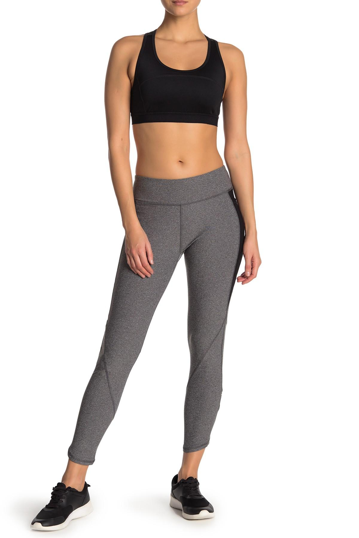 11adf896434ca Lyst - X By Gottex Mesh Panel Zipper Trim Leggings in Gray - Save 8%
