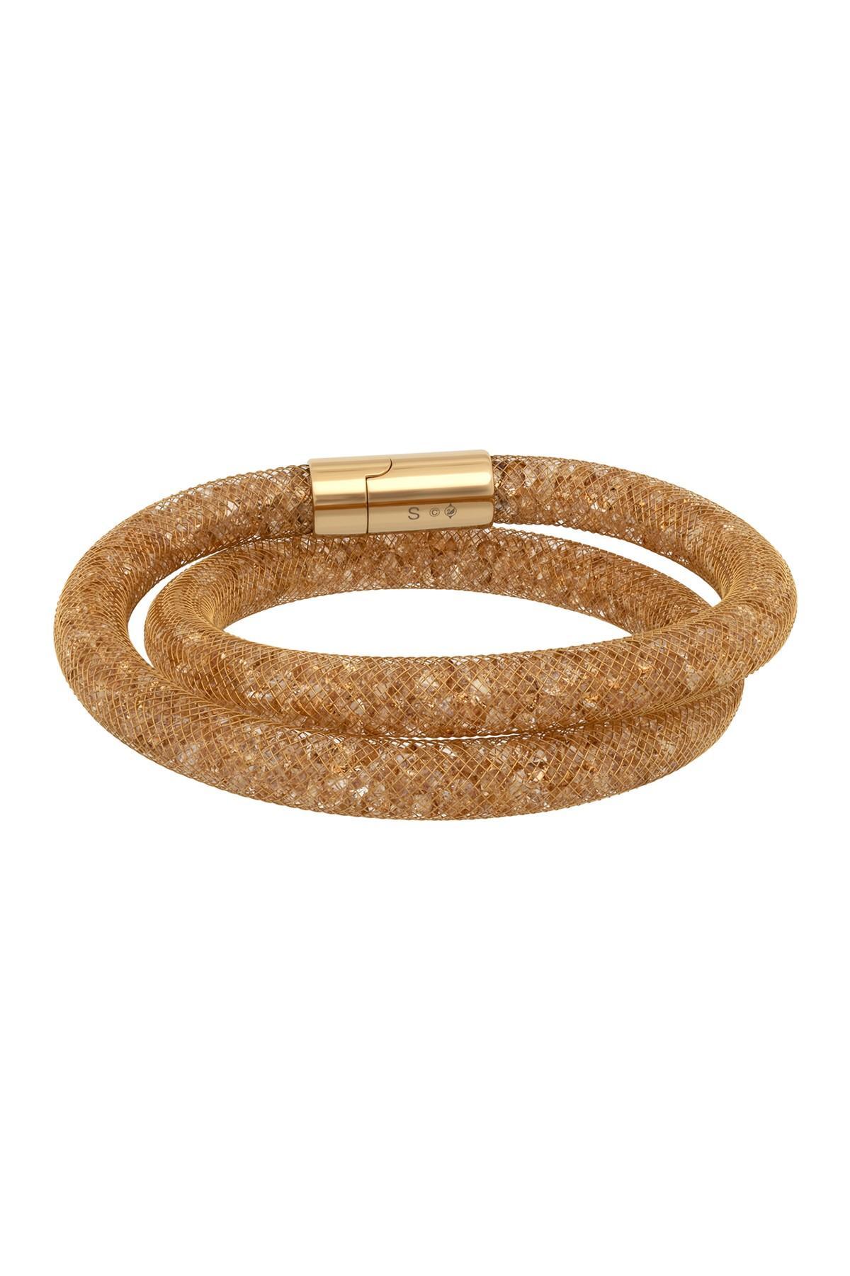 Stardust Crystal Filled Mesh Deluxe Bracelet