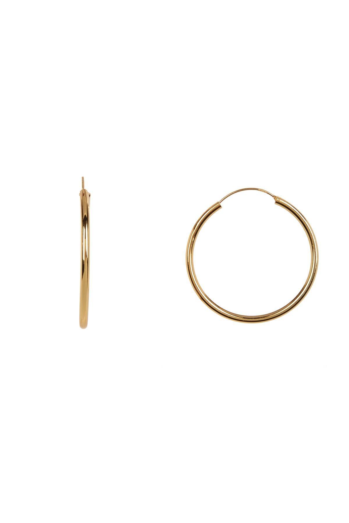 18k Gold Vermeil Endless Hoop Earrings 50mm
