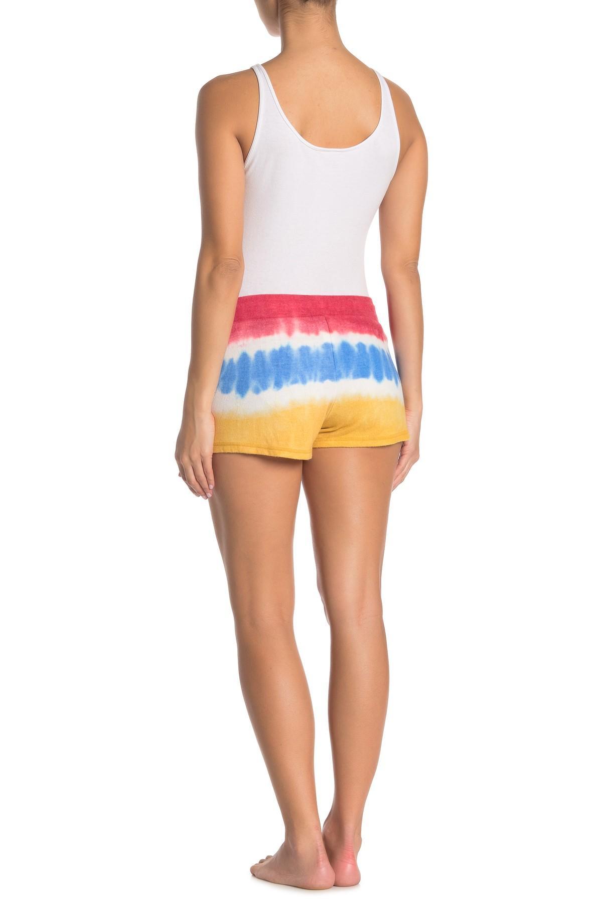 Ivory Tie-Dye PJ Salvage Women/'s Vintage Feels Jersey Lounge Shorts