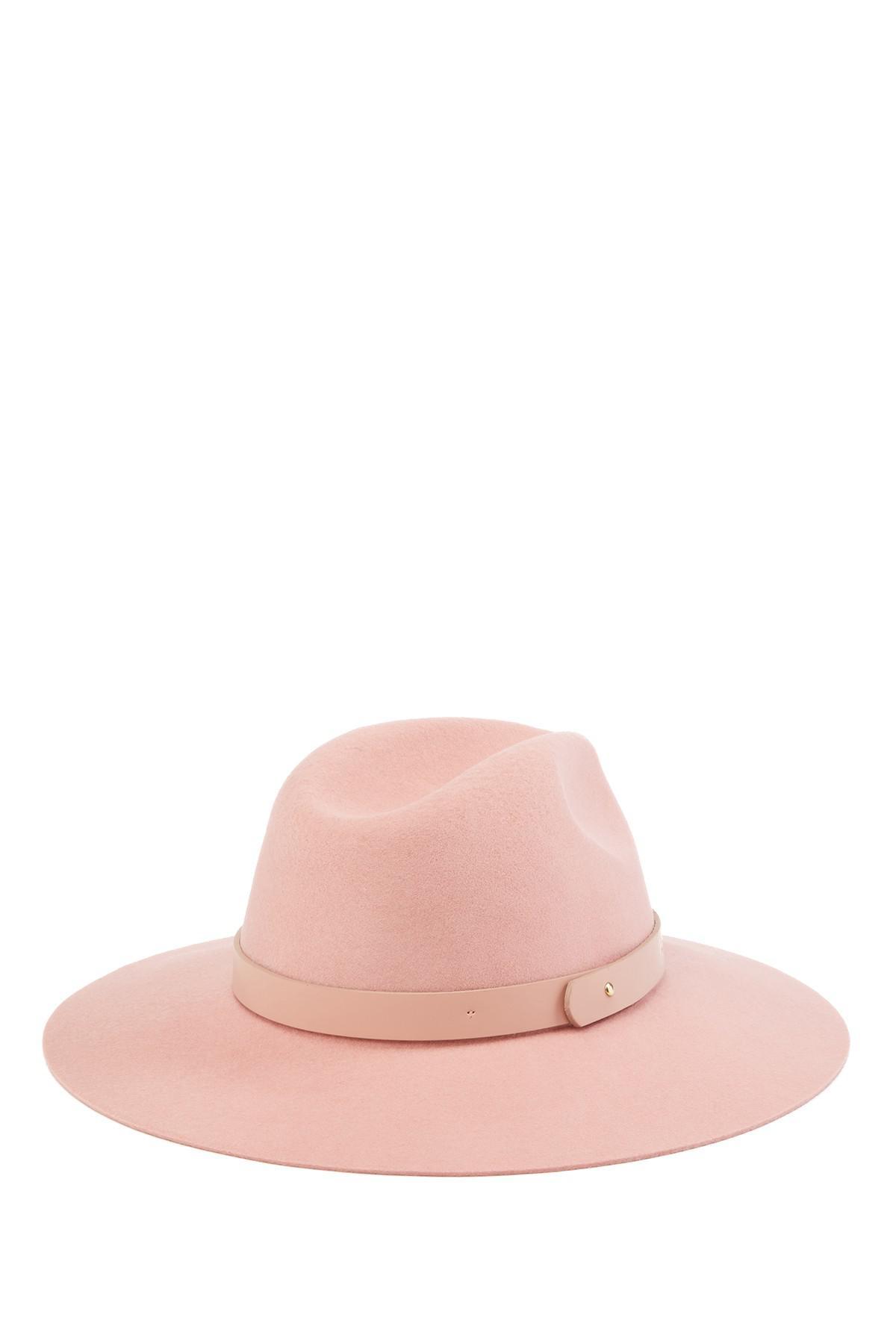 767c342cd Phenix Pink Leather Band Fedora