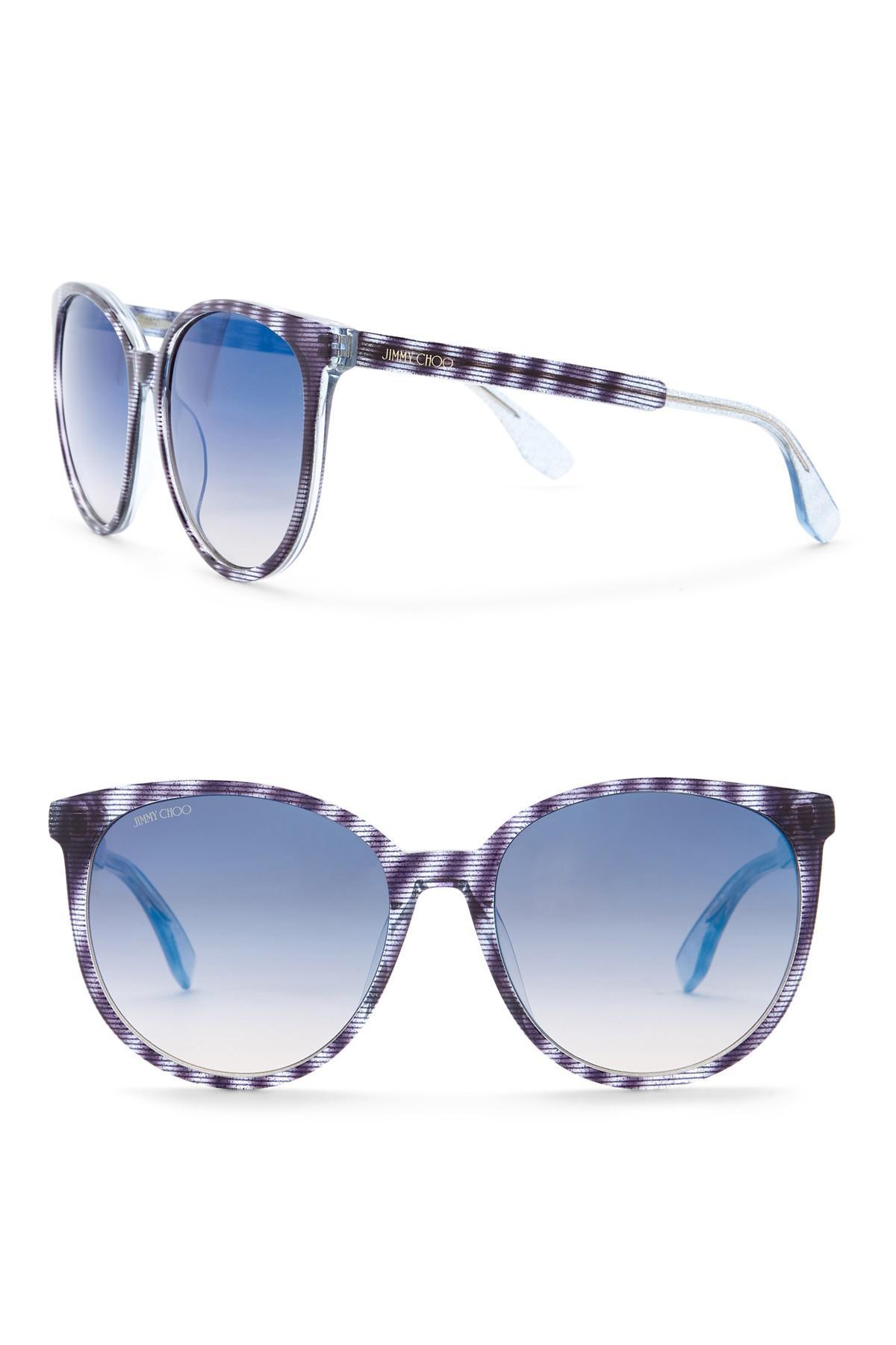9b4ae0d27e2 Lyst - Jimmy Choo Women s Reece 55mm Oversized Sunglasses in Blue