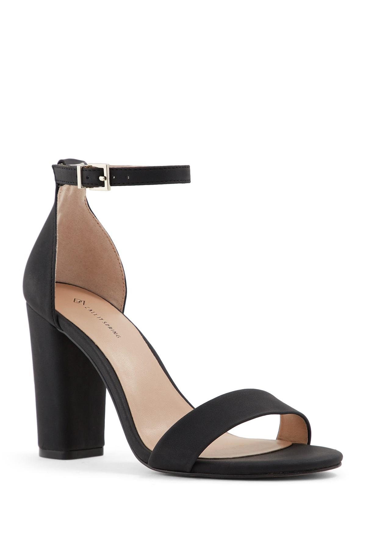 ab90f9cb49 Call It Spring Tayvia Block Heel Sandal in Black - Lyst