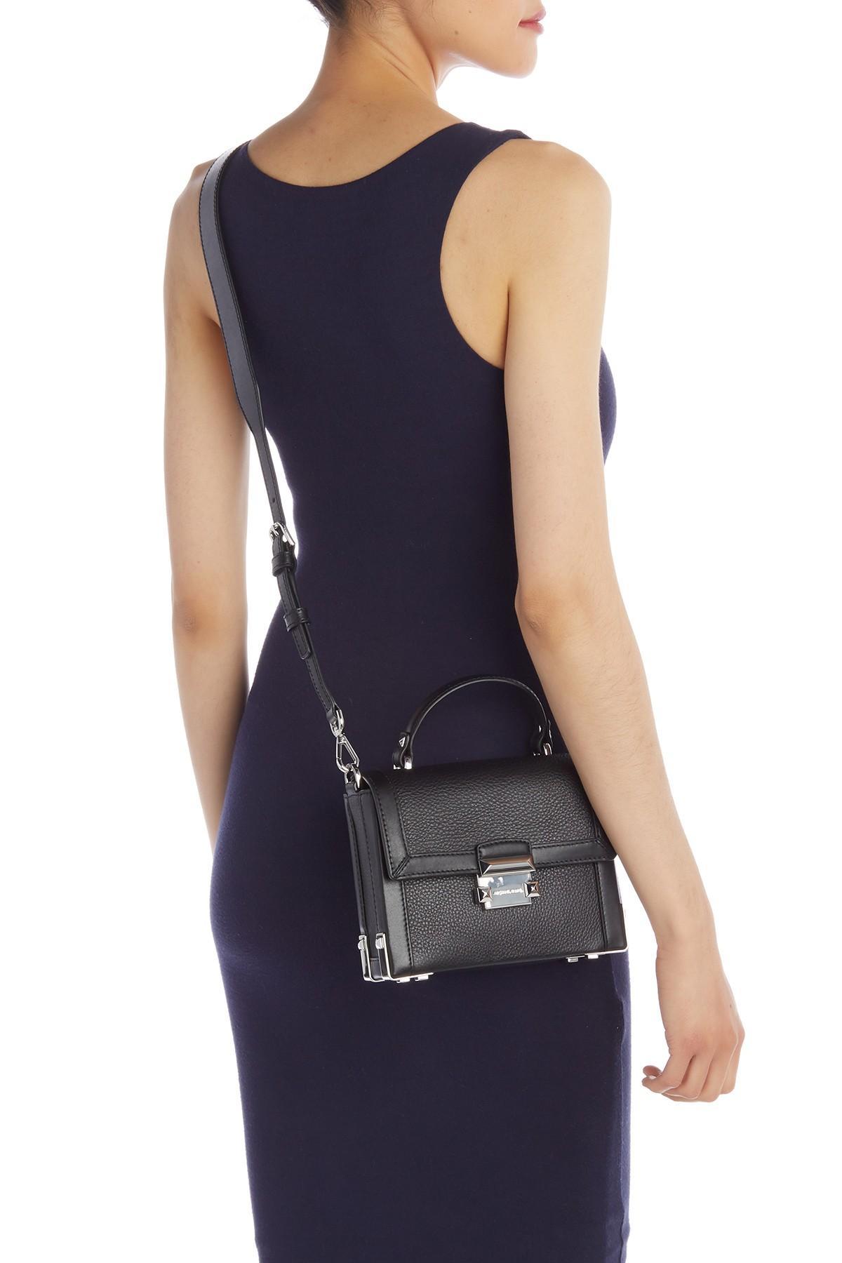 1afd3b2e38b MICHAEL Michael Kors - Black Jayne Leather Trunk Shoulder Bag - Lyst. View  fullscreen