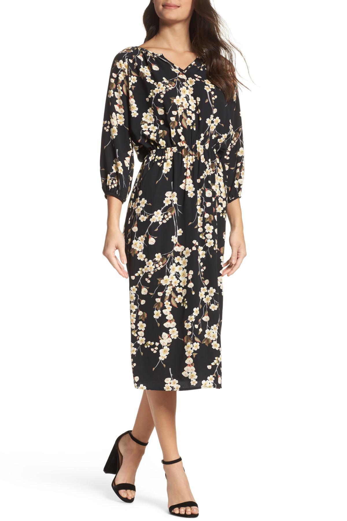 df938a766d Lyst - Fraiche By J Flower Blouson Dress in Black