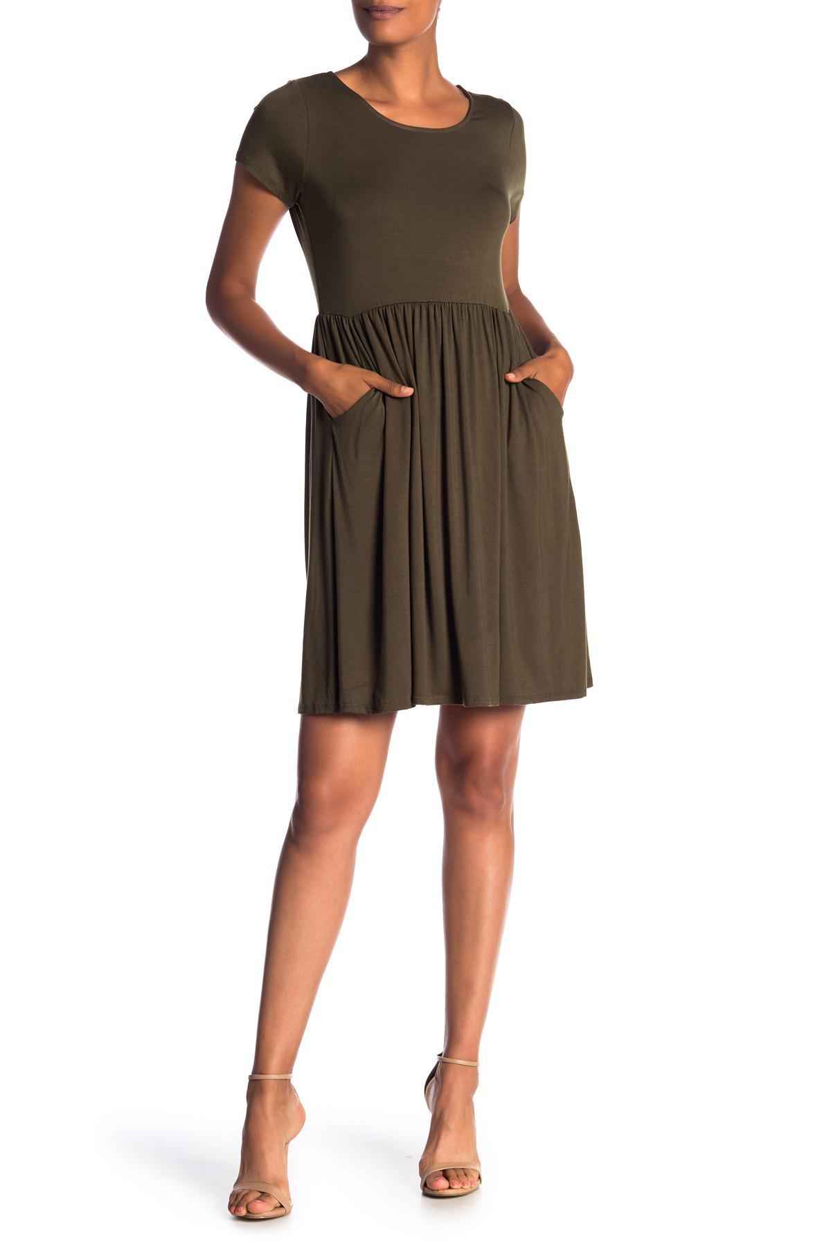 0359b3da04f Lyst - West Kei Short Sleeve Knit Dress in Green