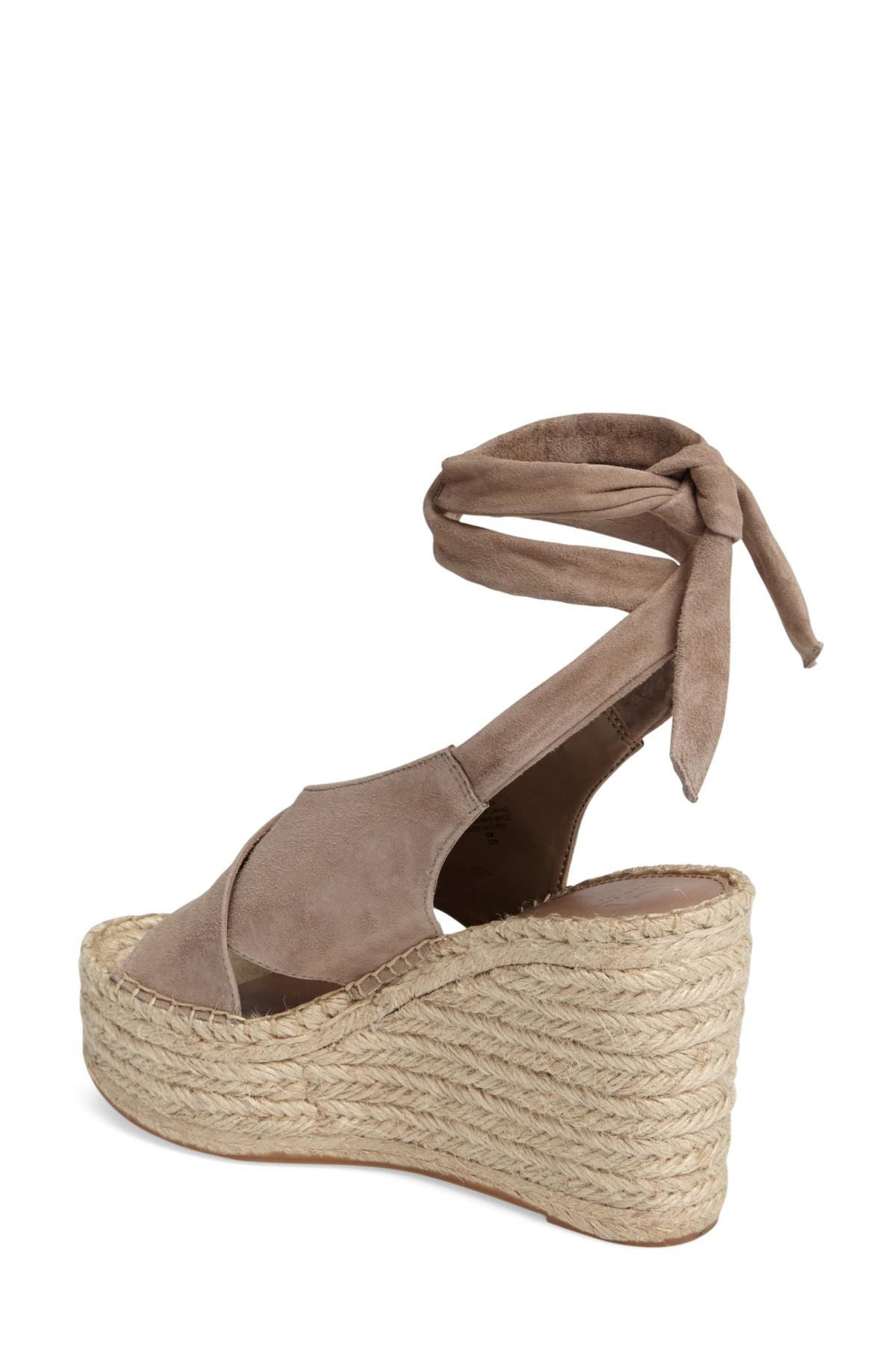 ddd0a7bf043 Lyst - Marc Fisher Andira Platform Wedge Sandal in Brown