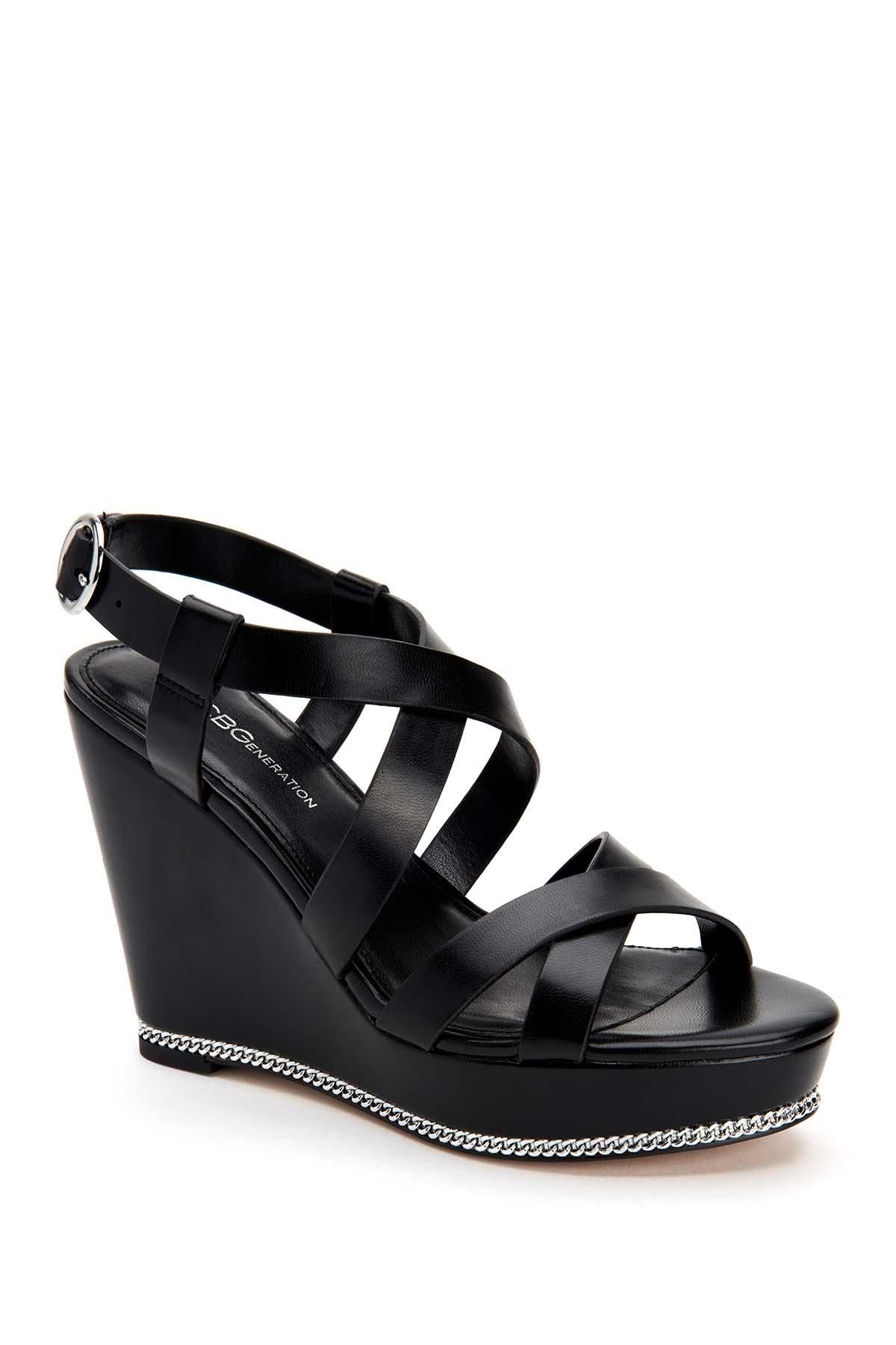 23f435a1d1 Lyst - BCBGeneration Janice Strappy Wedge Sandal in Black - Save 46%