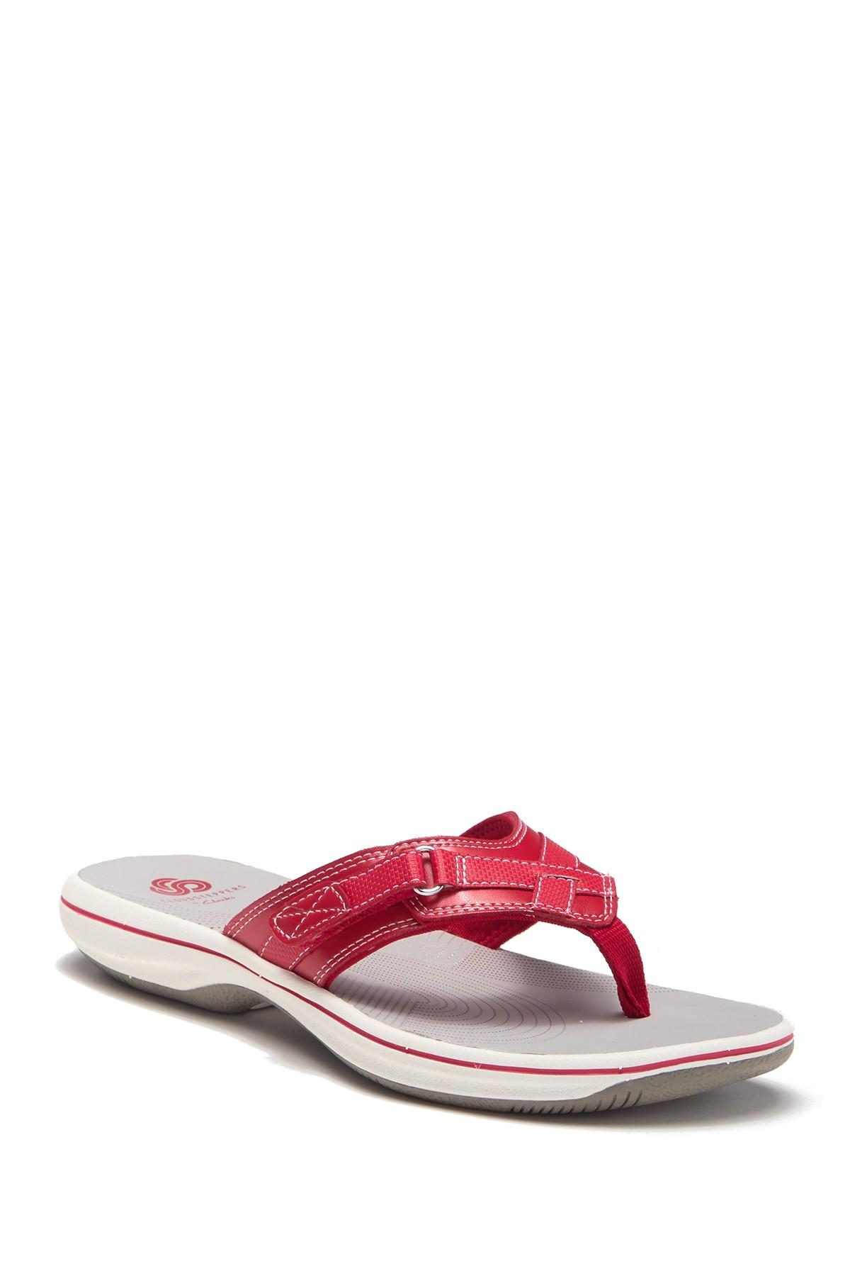 45a14f65efc Lyst - Clarks Breeze Sea Sandal in Red - Save 61%