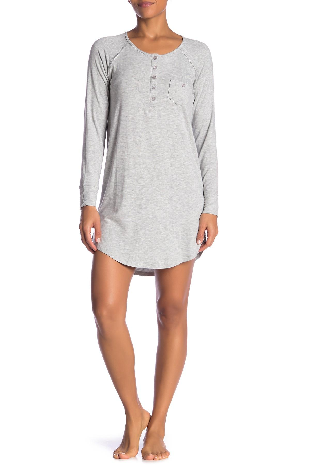 fac1f3292b Lyst - Juicy Couture I Dream Of Juicy Pajama Shirt in Gray