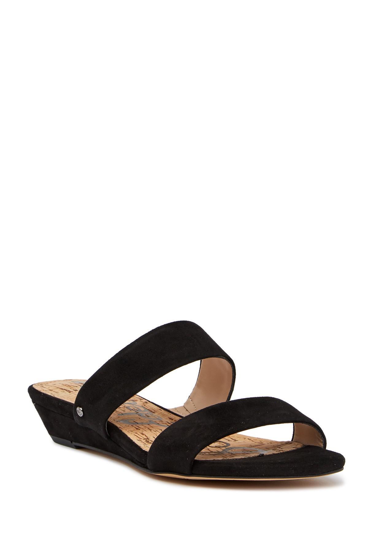 Nubuck Leather Cross Slide Sandals bbvj2