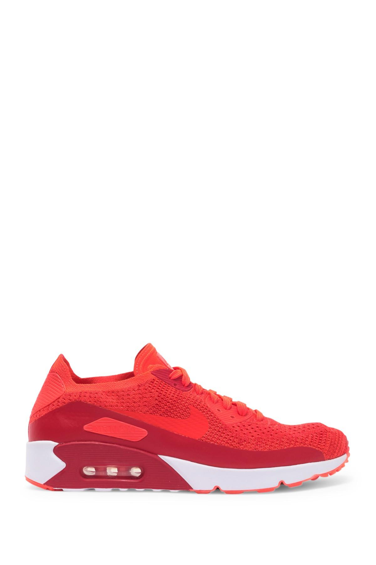 separation shoes d78c3 ef1da Men's Red Air Max 90 Ultra 2.0 Flyknit Sneaker