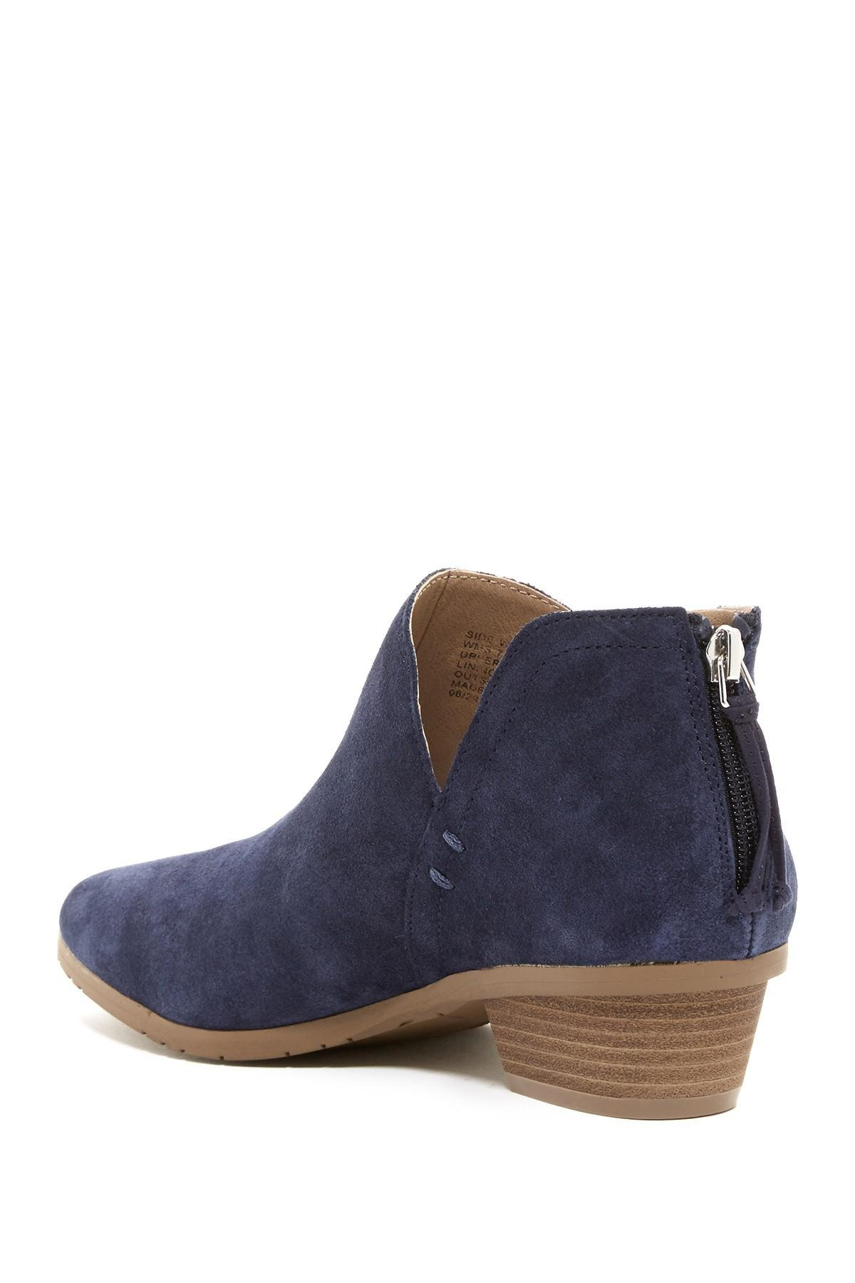 86220055486 Kenneth Cole Reaction Blue Side Way Ankle Bootie