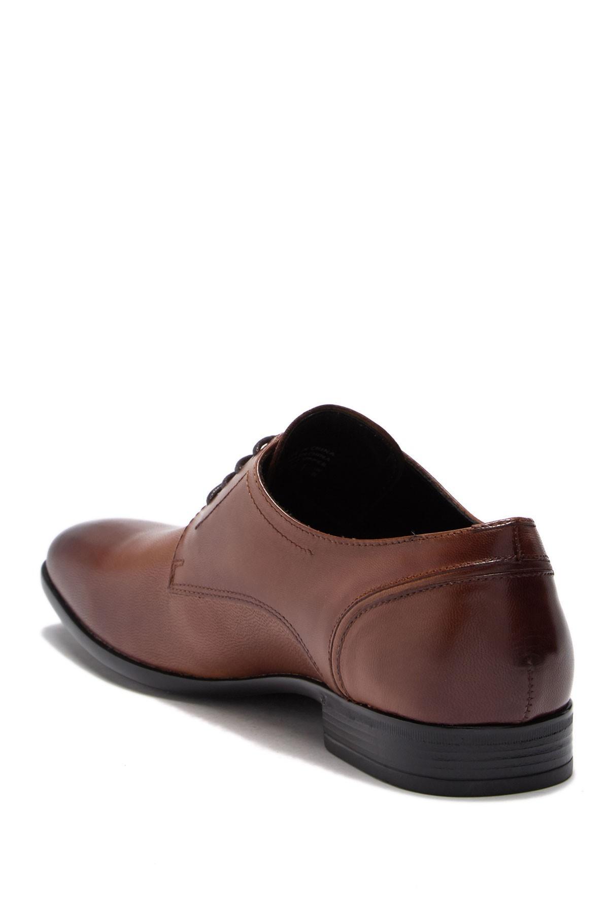 e9bfc4134427 ALDO - Brown Sevirari Leather Burnished Derby for Men - Lyst. View  fullscreen