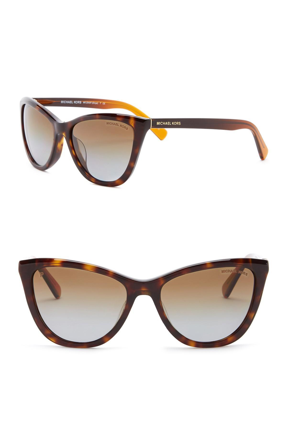 b76fdb112c0a Lyst - Michael Kors Women's Divya 57mm Polarized Cat Eye Sunglasses ...