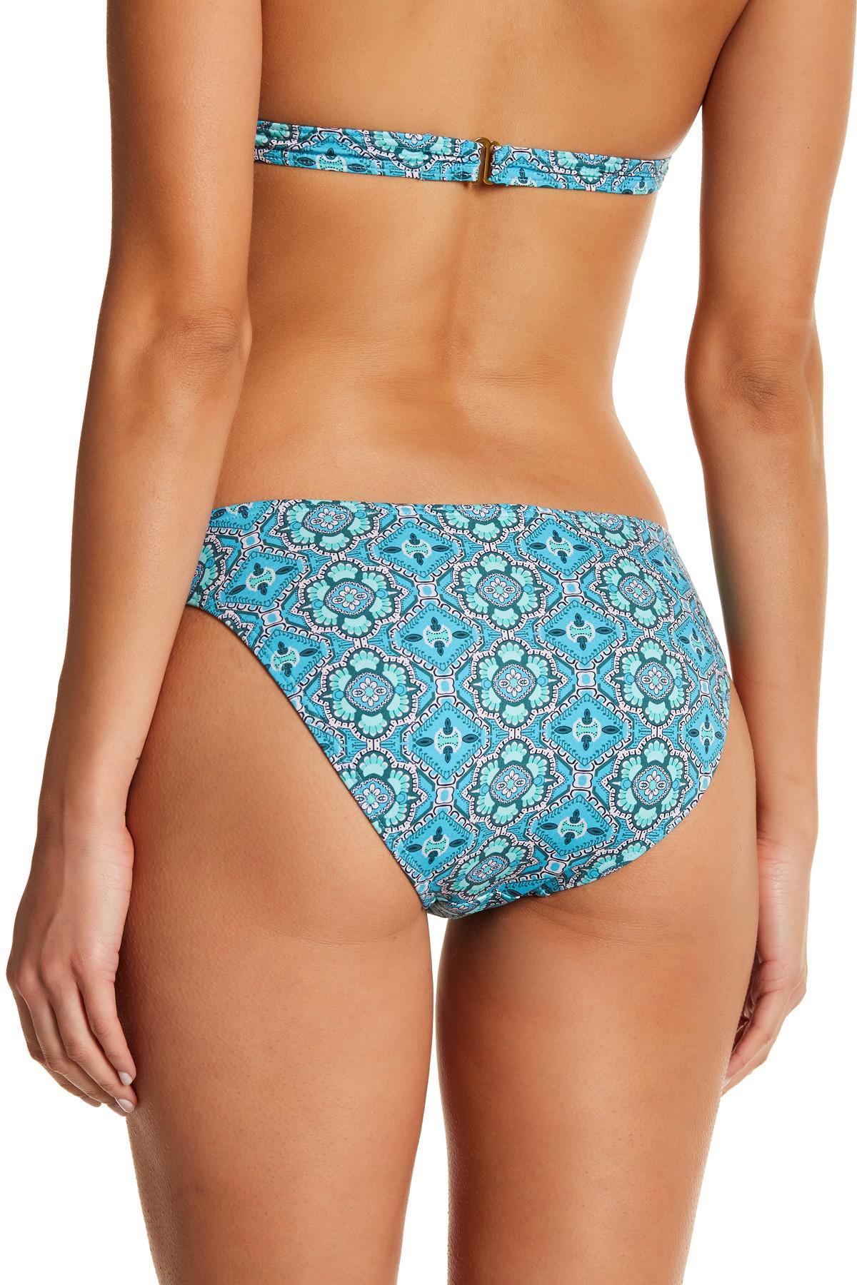 7b92df65c1 Lyst - Letarte Paisley Bikini Bottoms in Blue