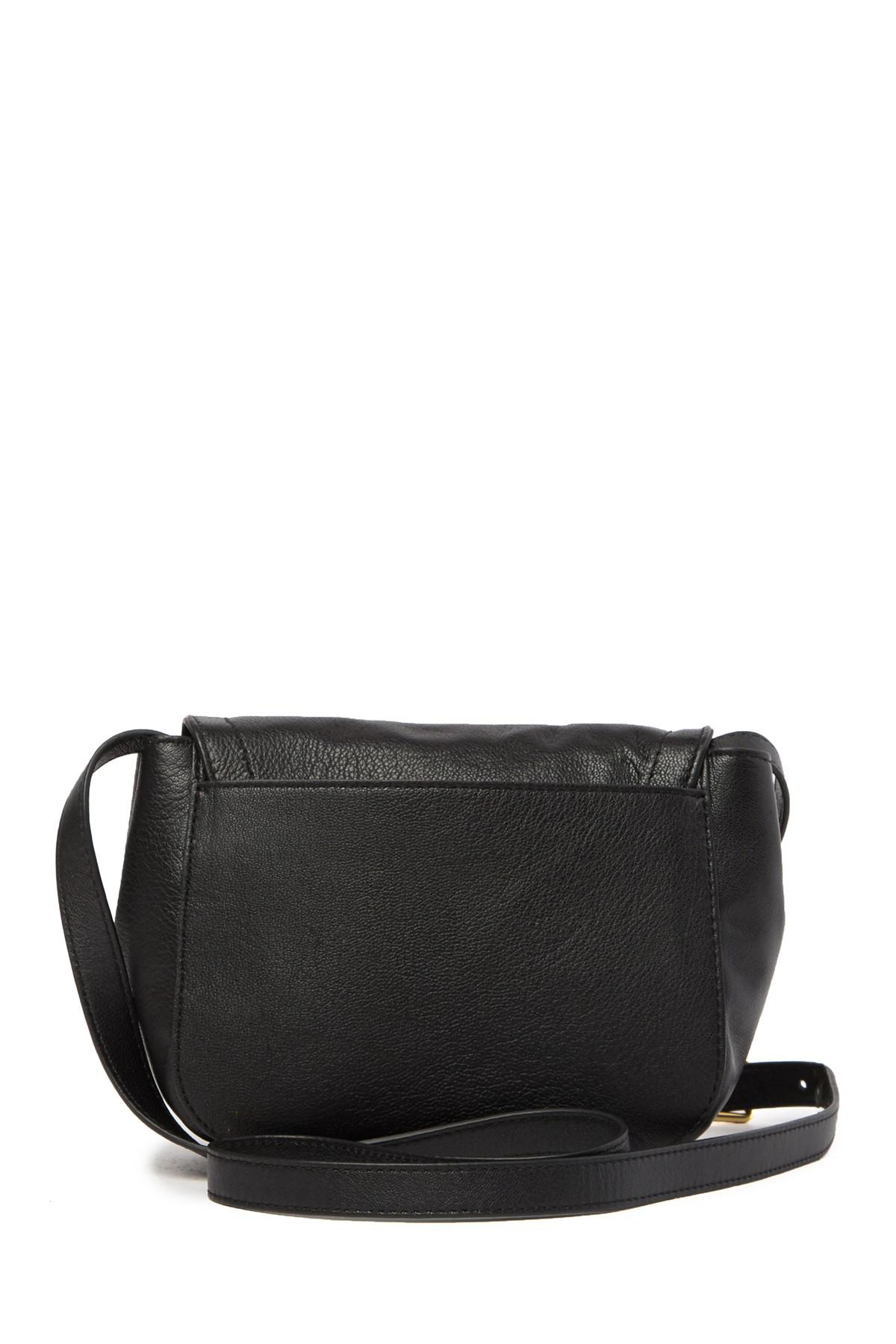 97cf35a9ca3 Cole Haan Hinge Lock Leather Crossbody Bag in Black - Lyst