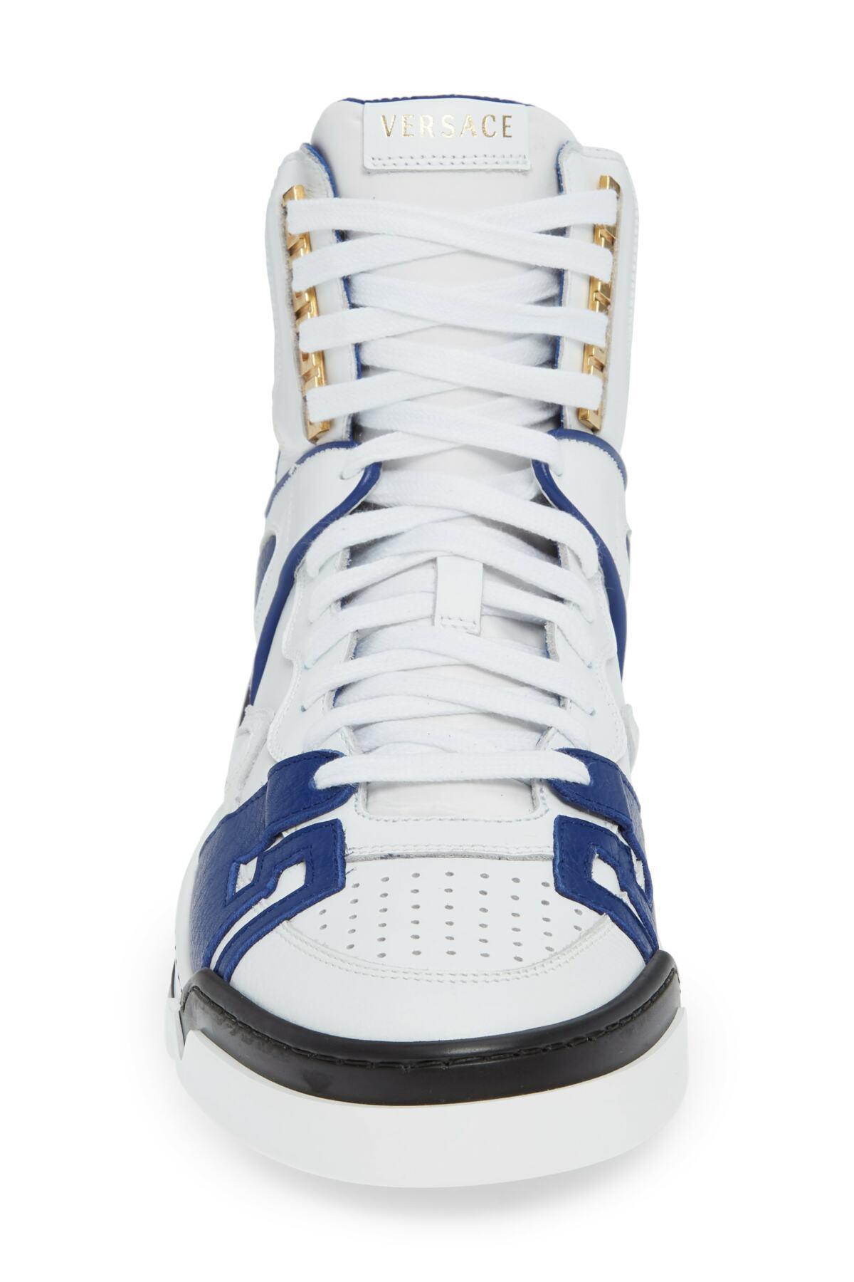 Versace Atlas High Top Sneaker in Blue