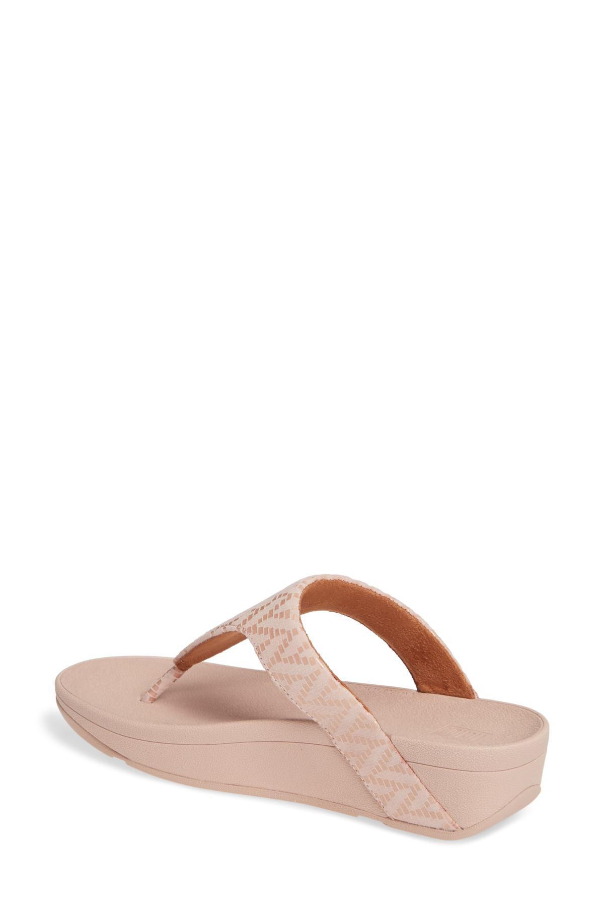11b34ca8e Fitflop - Pink Lottie Chevron Wedge Flip Flop (women) - Lyst. View  fullscreen