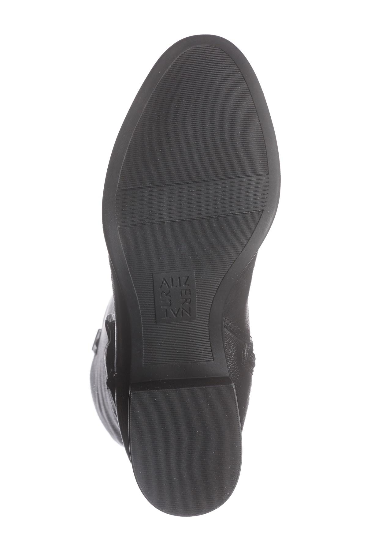 fa3ab570b580 Naturalizer - Black Kim Ankle Strap Leather Boot - Wide Width Available -  Lyst. View fullscreen