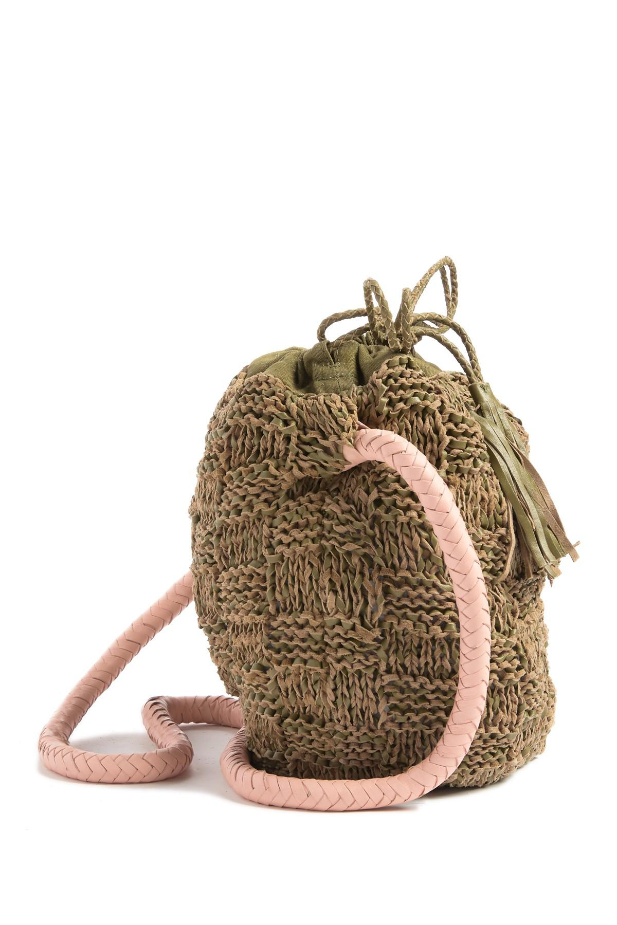 Sophie Anderson Adia Leather Knitted Bucket Bag Lyst