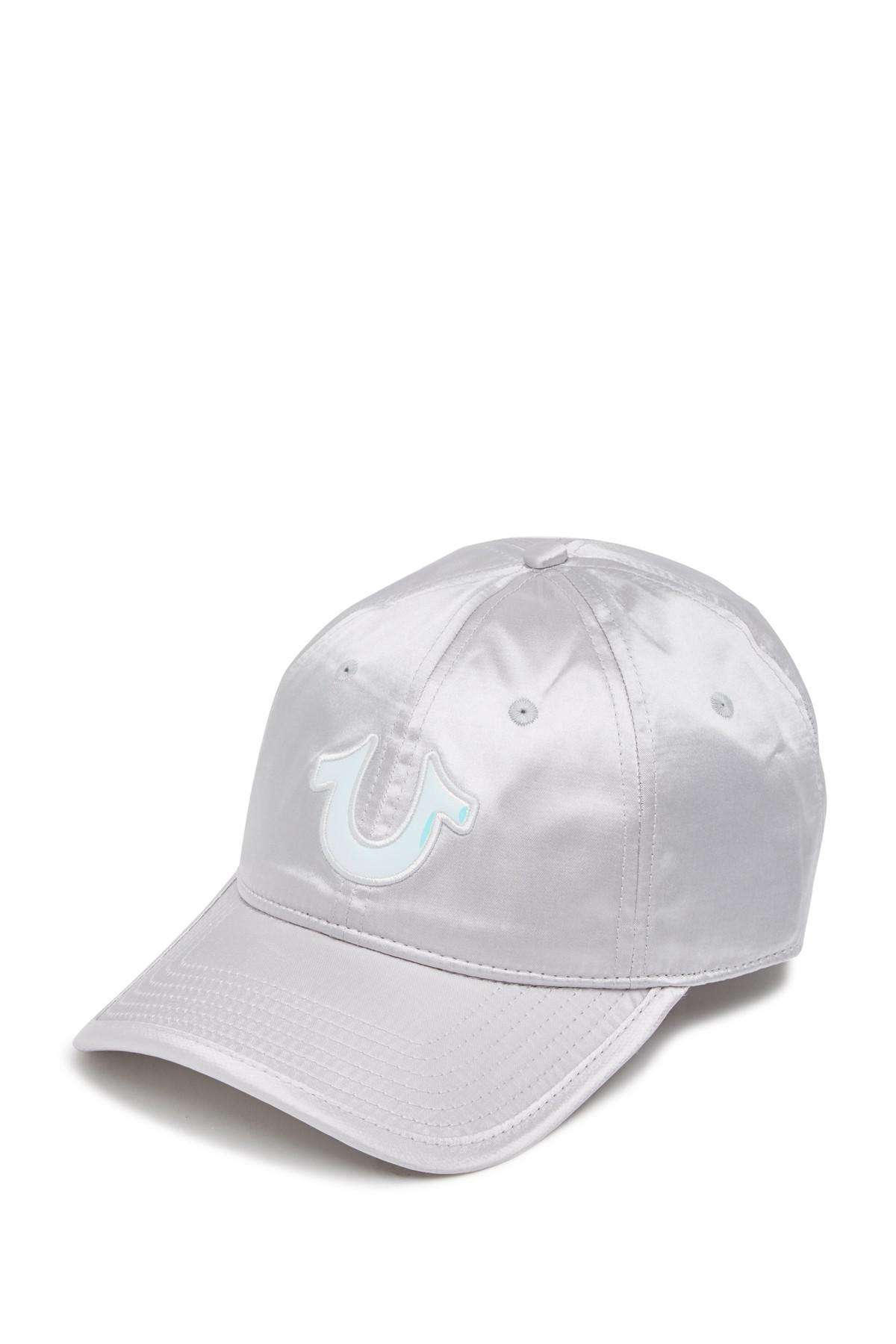 0ef311c2 Lyst - True Religion Satin Baseball Cap in Metallic for Men
