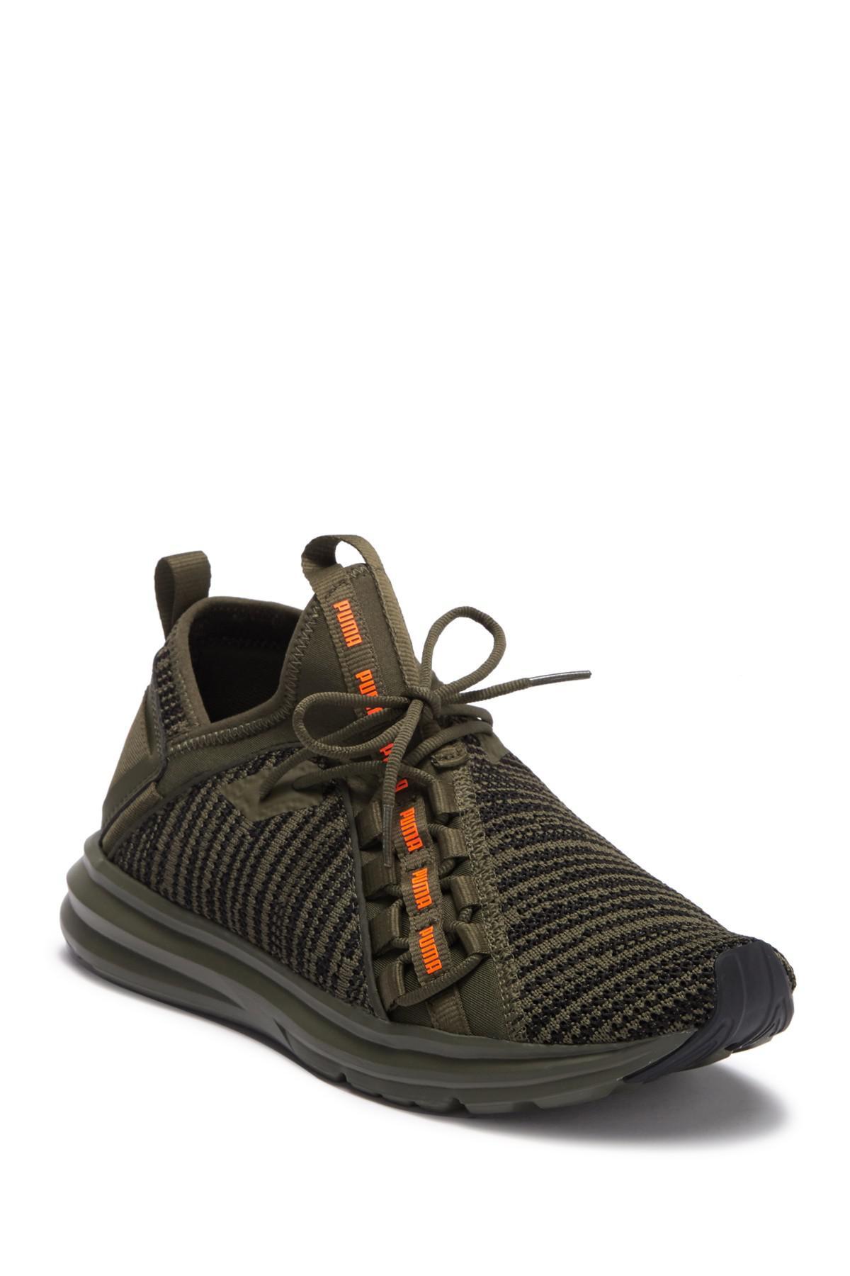 PUMA Enzo Peak Sneaker in Olive Green